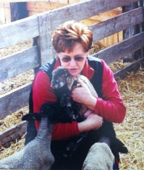Rosemary Love, shown here during lambing season in 2000 at her ranch ...