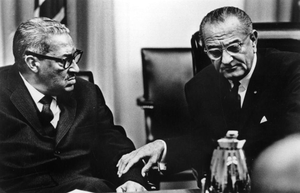 a biography pf thurgood marshall the first african american supreme court justice (new york's african-american community,  in deciding brown v board of education, the supreme court rejected the ideas of scientific  supreme court justice.