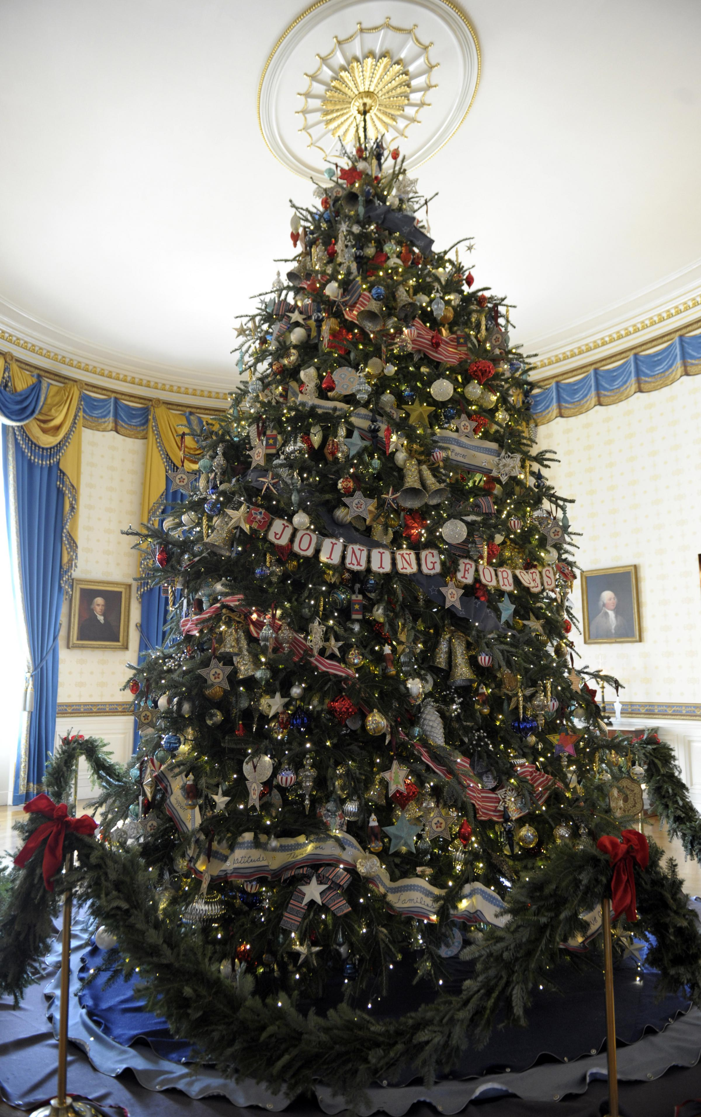 White House Christmas Decorations Volunteers