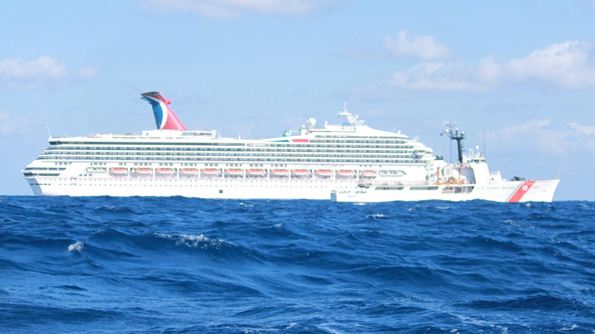 It Could Be A Lot Worse Triumph Passenger Says Cruise Ship - Port side of a cruise ship