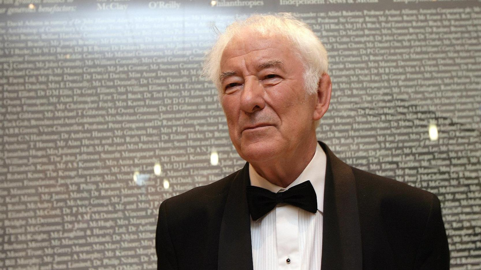 """seamus heaney For seamus: a cinematic homage to beloved poet seamus heaney """"there was  a wonderful sense in his writing of a fresh world opening, to which we were all."""
