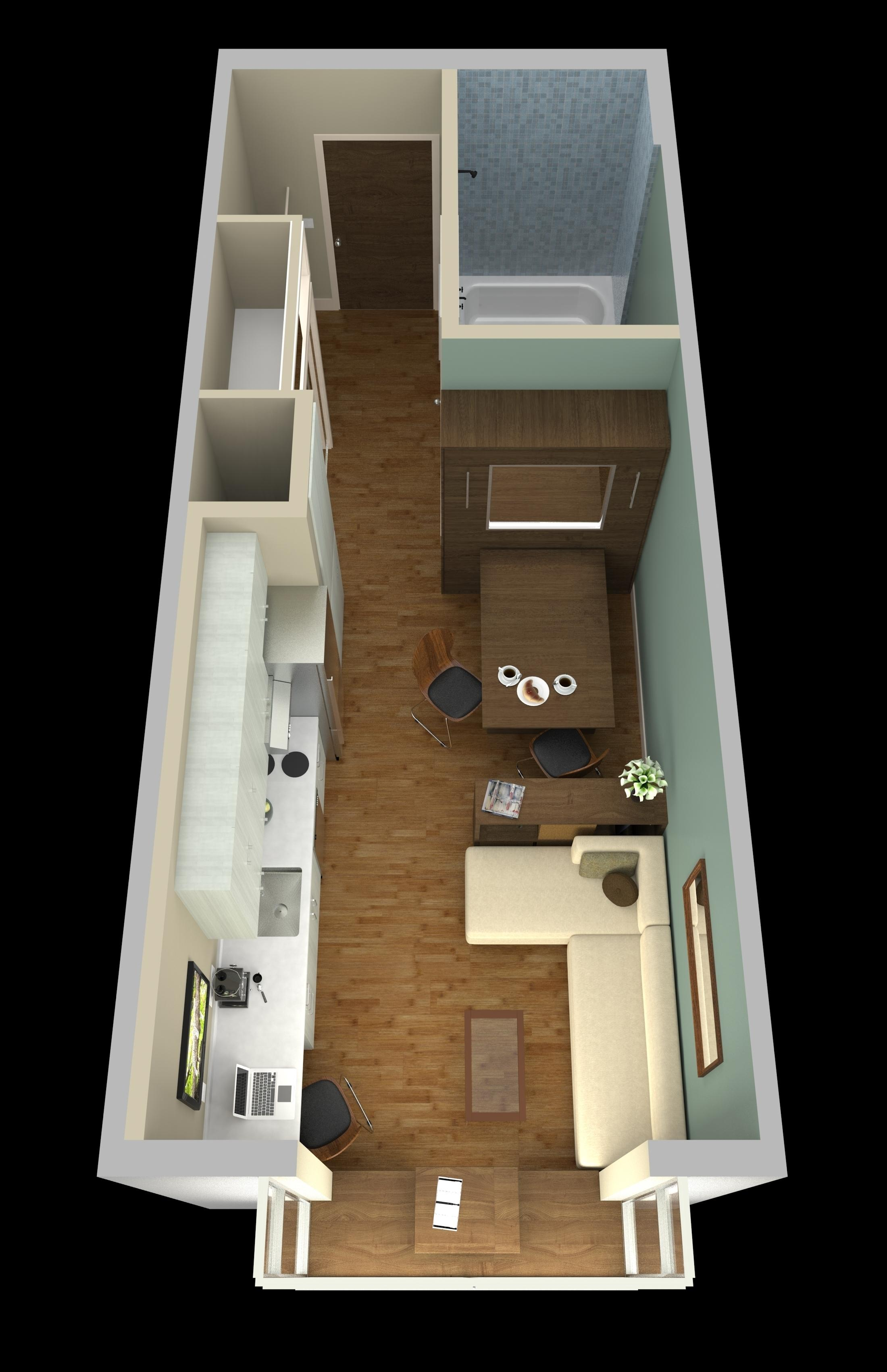 Spaces Must Serve Double Duty In Micro Units U2014 Like The Dining Table Above  That Converts Into A Murphy Bed.