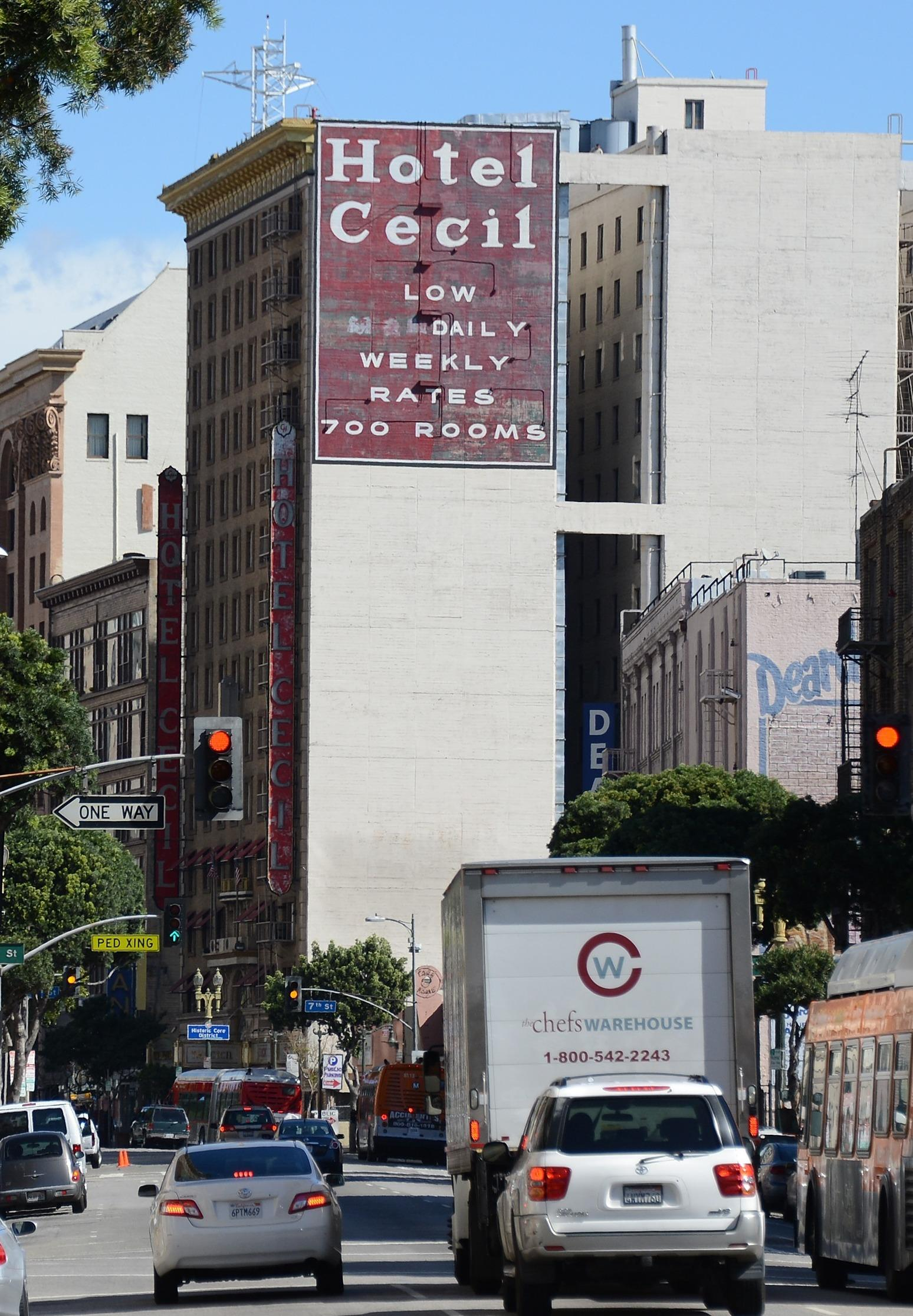 The Cecil Hotel In Los Angeles Which Advertises Low Monthly Rates