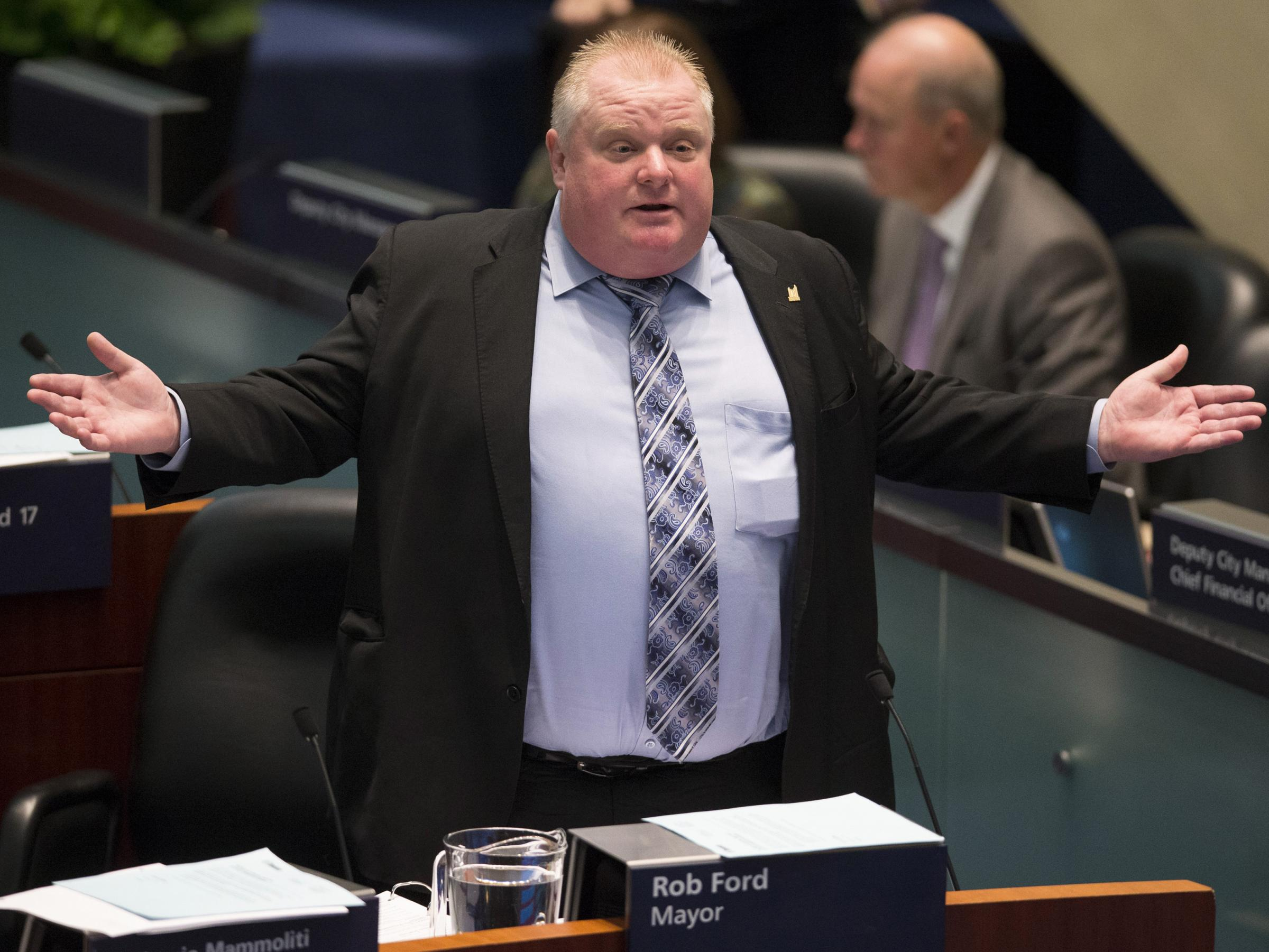 rob ford and toronto city council Nov 15 - toronto city council votes to strip scandal-plagued mayor rob ford of some of his powers but ford, who admits he smoked crack cocaine while in office, promised to challenge the moves in court jillian kitchener reports.
