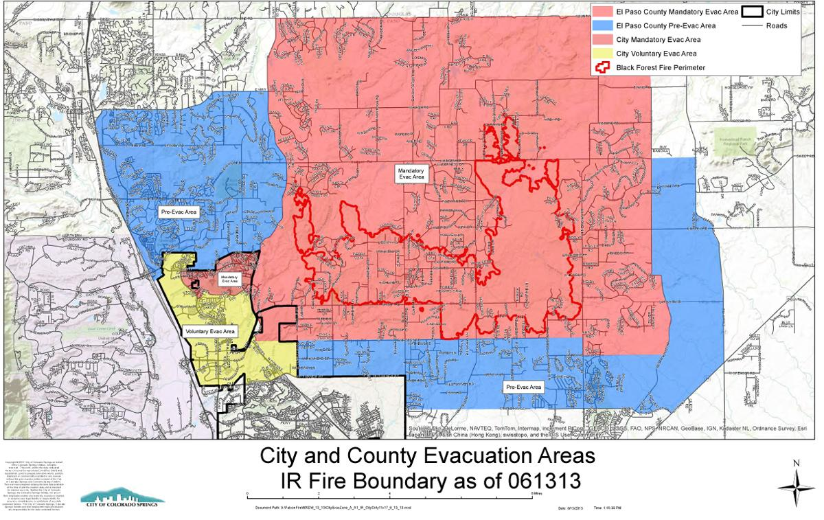 County Line 2 Fire Map.Thursday Updates For The Black Forest Fire Other Colorado Wildfires