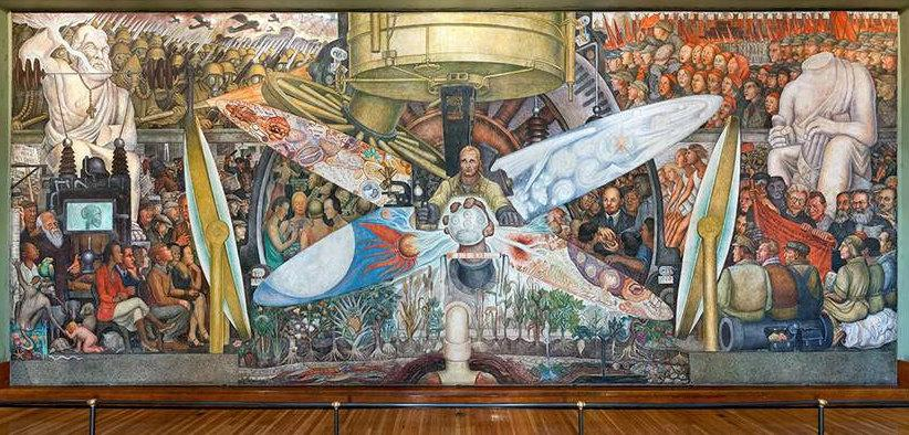 Destroyed by rockefellers mural trespassed on political for Diego rivera mural