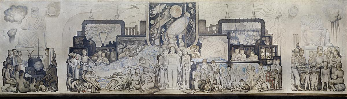 Destroyed by rockefellers mural trespassed on political for Diego rivera mural rockefeller