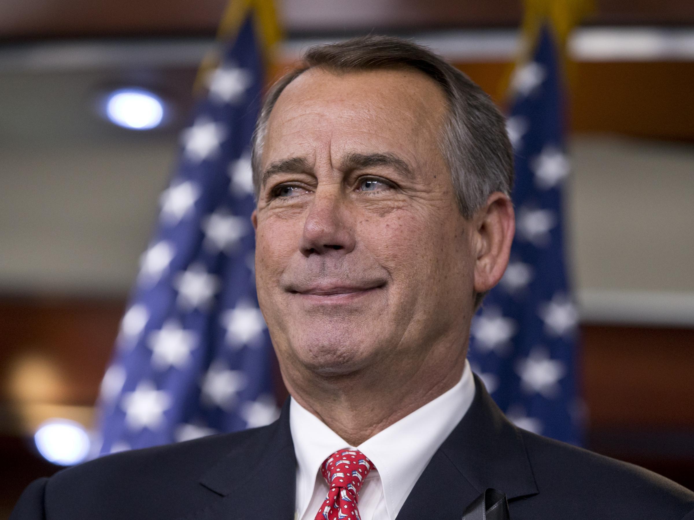 During a December news conference, House Speaker John Boehner rebukes ...