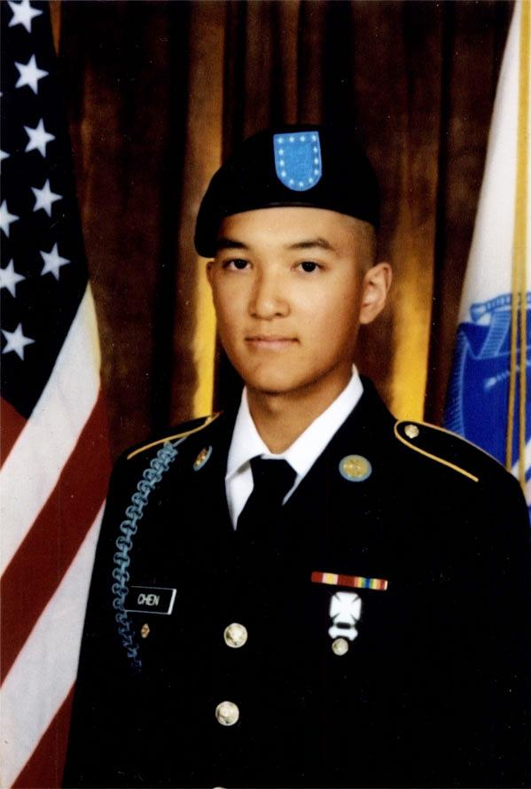 Chen died in Afghanistan in 2011 from a self-inflicted gunshot wound. He was 19.