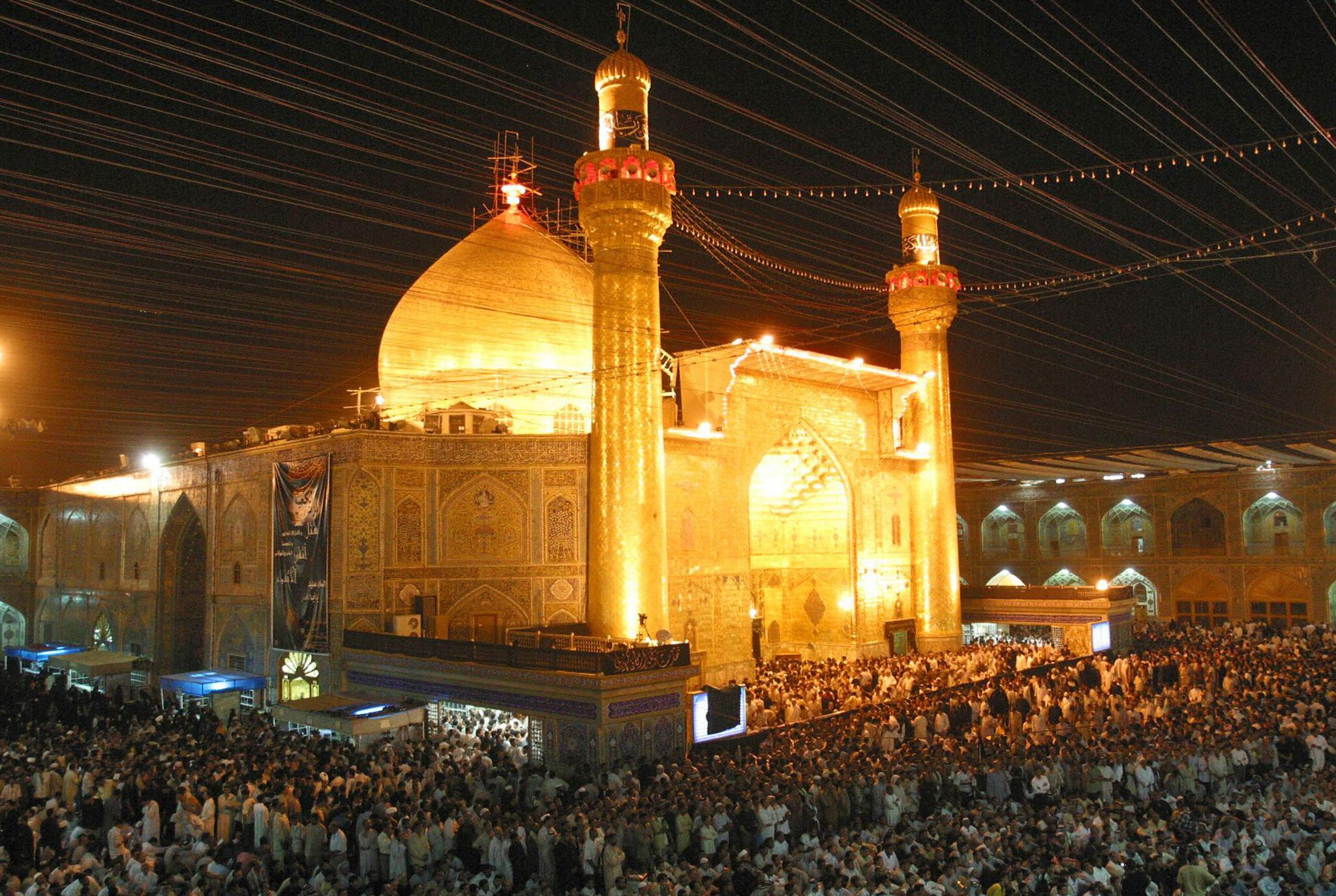 Maula Ali Shrine Wallpaper: In Iraq's Sacred City Of Najaf, Clerics Call On Shiites To