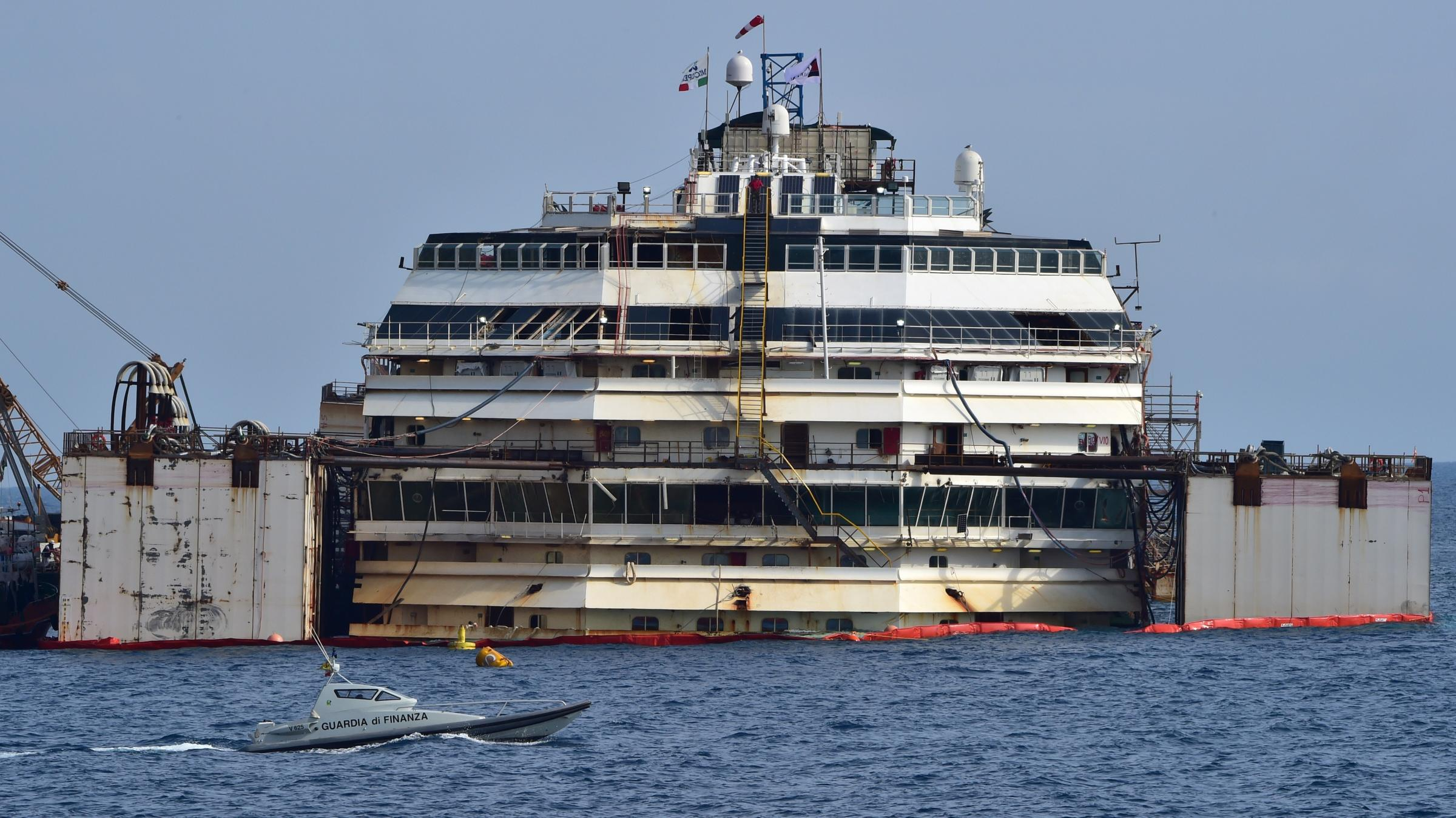 Costa Concordia Cruise Ship Floats Again After 2 Years