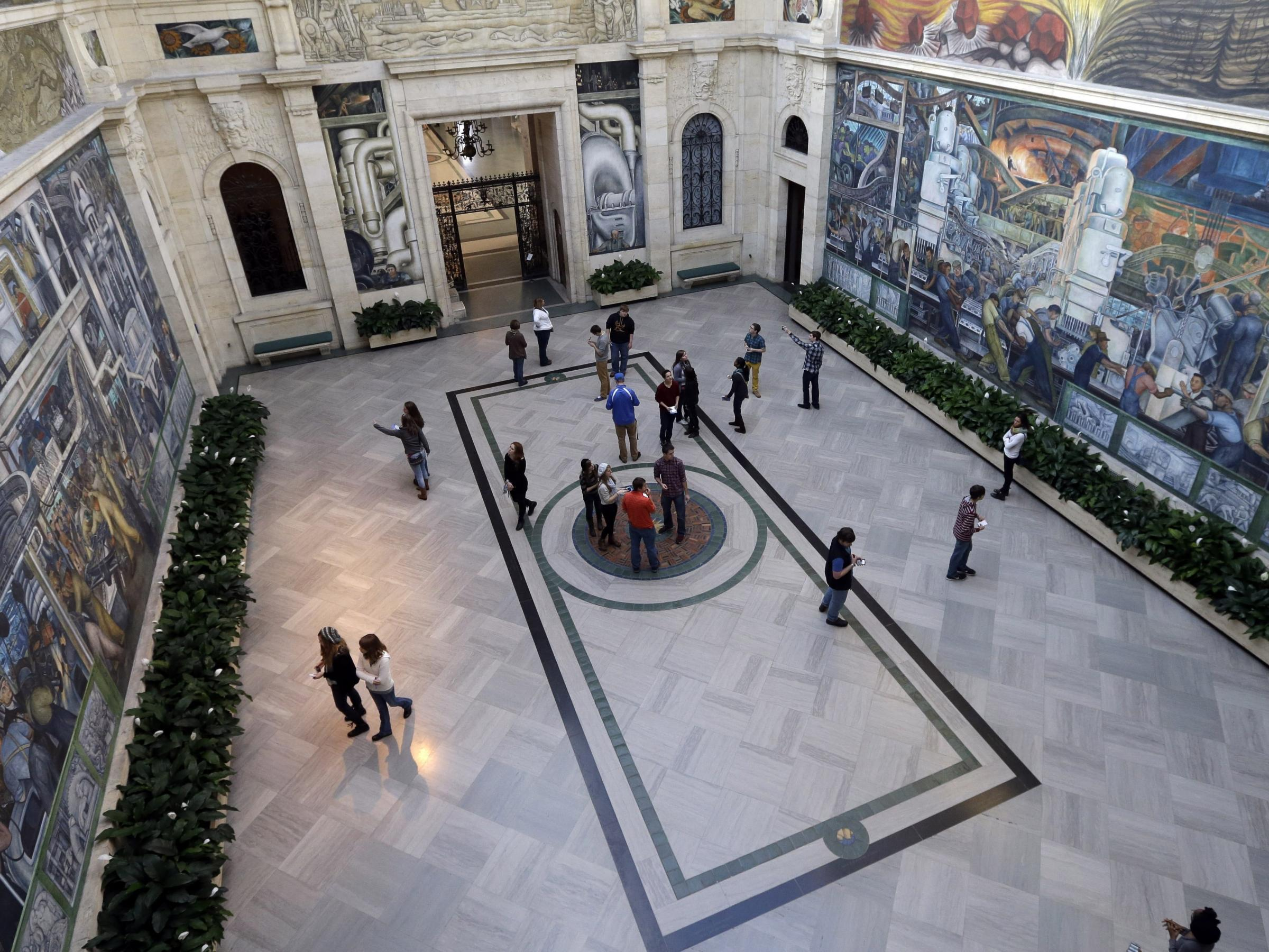 Detroit bankruptcy battle begins in federal court for Diego rivera mural detroit institute of arts