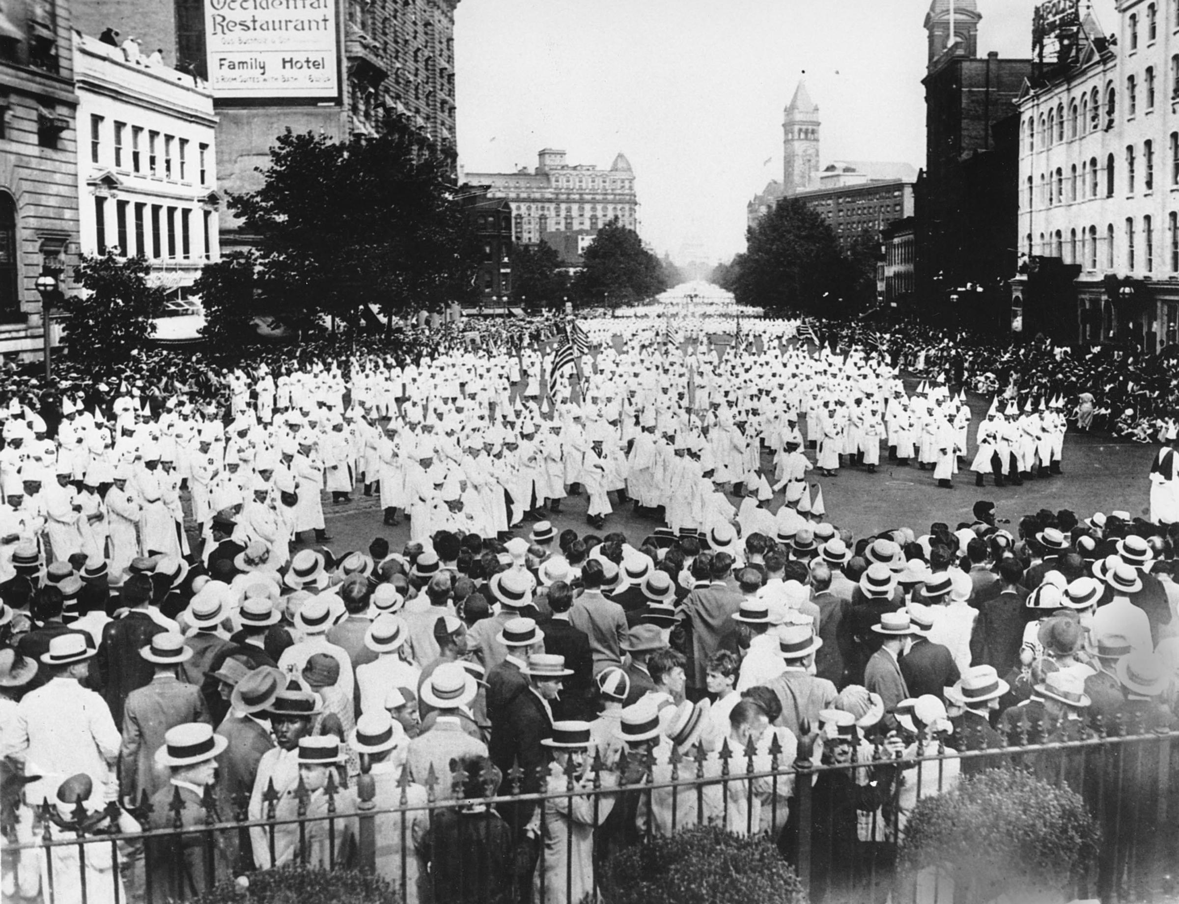 """ku klux klan and racism in The 1915 racist blockbuster promoted the klan as the great defender of """"white womanhood"""" president woodrow wilson showed the film at the white house [ the ku klux klan was dead."""