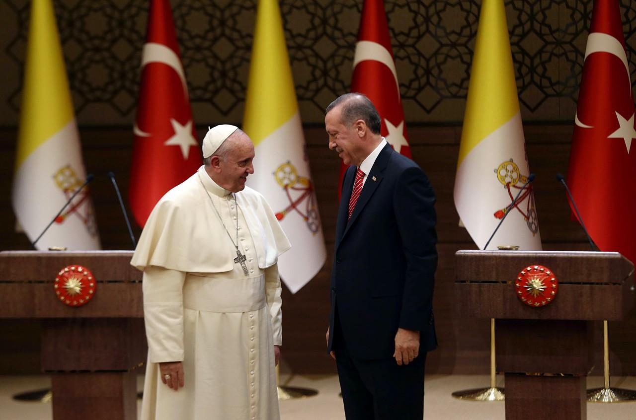 Image result for erdogan pope francis