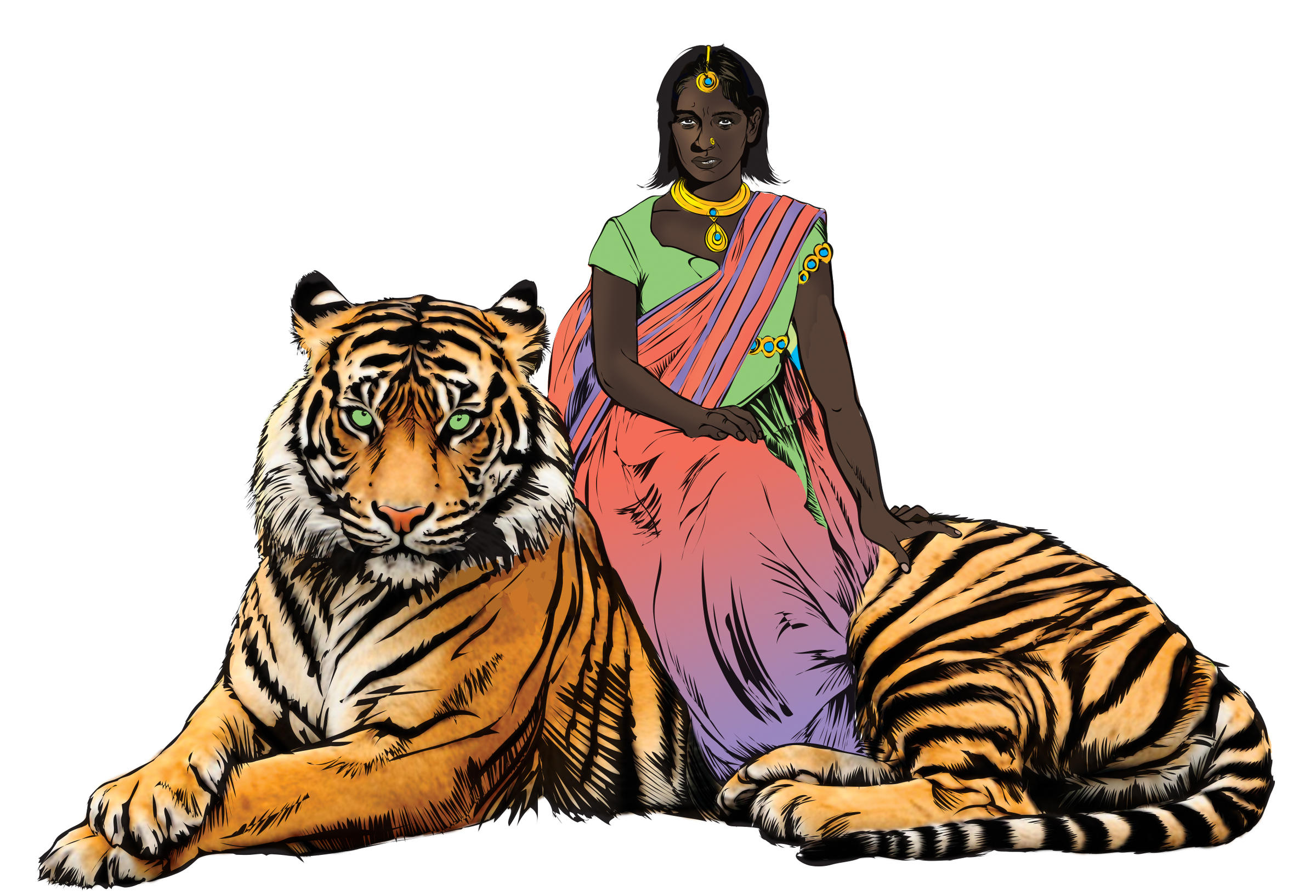 india 39 s new comic book hero fights rape rides on the back of a tiger kbia. Black Bedroom Furniture Sets. Home Design Ideas