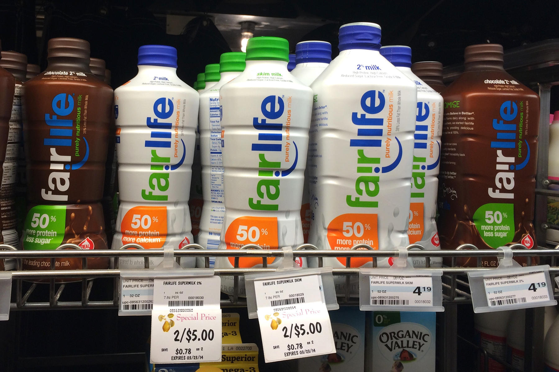 Fairlife milk shown here on sale in minneapolis minn in april is