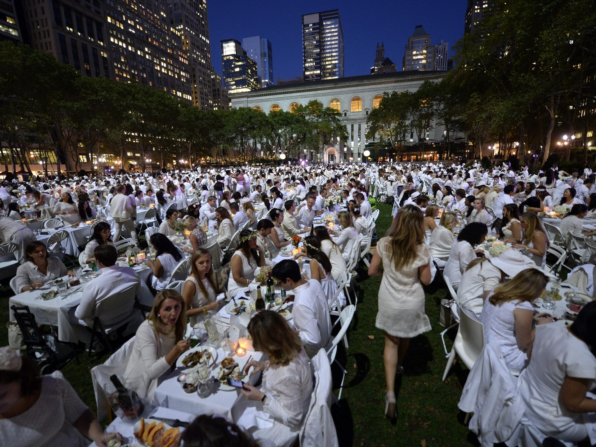 This elegant whimsical pop up dinner party had 4 000 for Secret dinner party