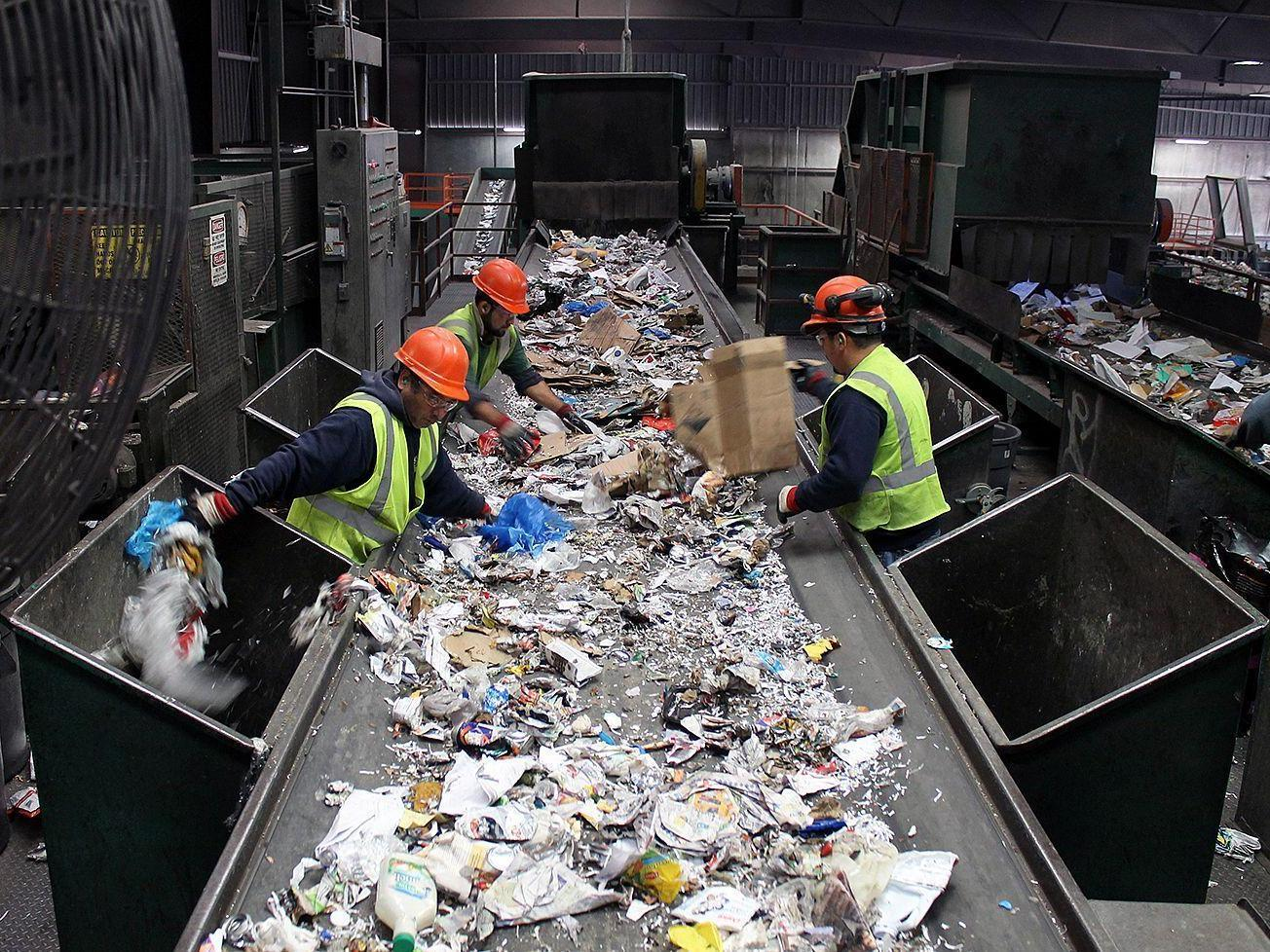 With 39 single stream 39 recycling convenience comes at a for Hand works with waste things