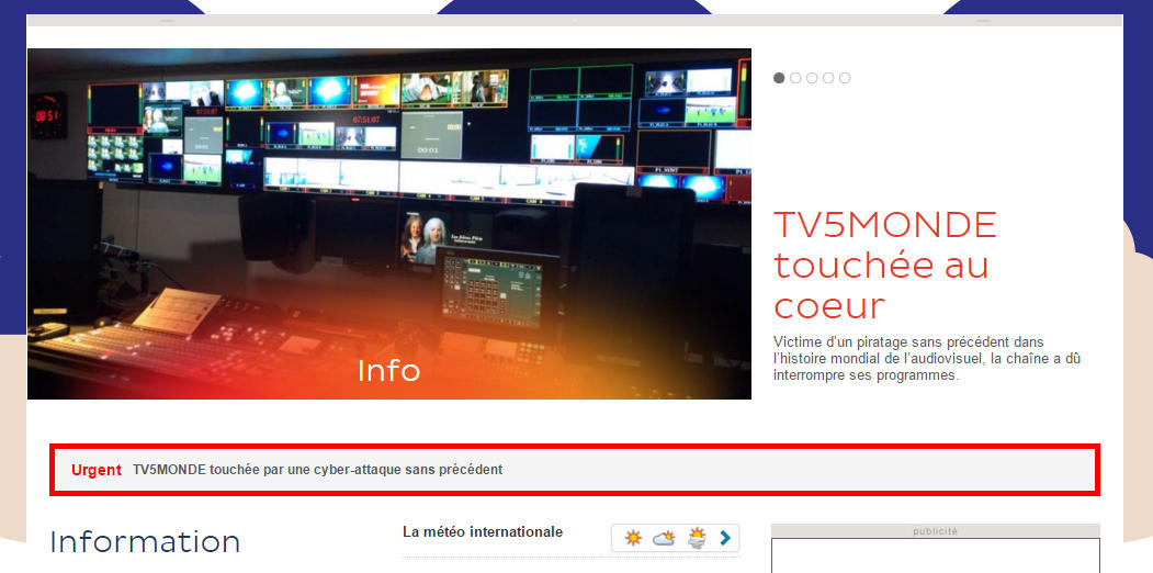 French Tv Network Hacked By 39 Cyber Caliphate 39 Group