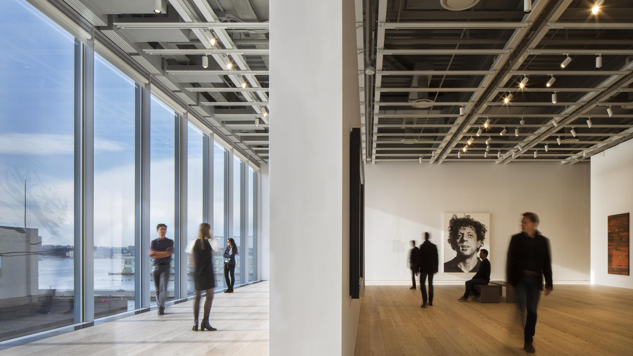 The new building\u0027s window-lined hallways are in stark contrast to the brutalist design of the Whitney\u0027s former home. & Whitney Museum\u0027s New Building Opens Doors (And Walls) To Outside ...