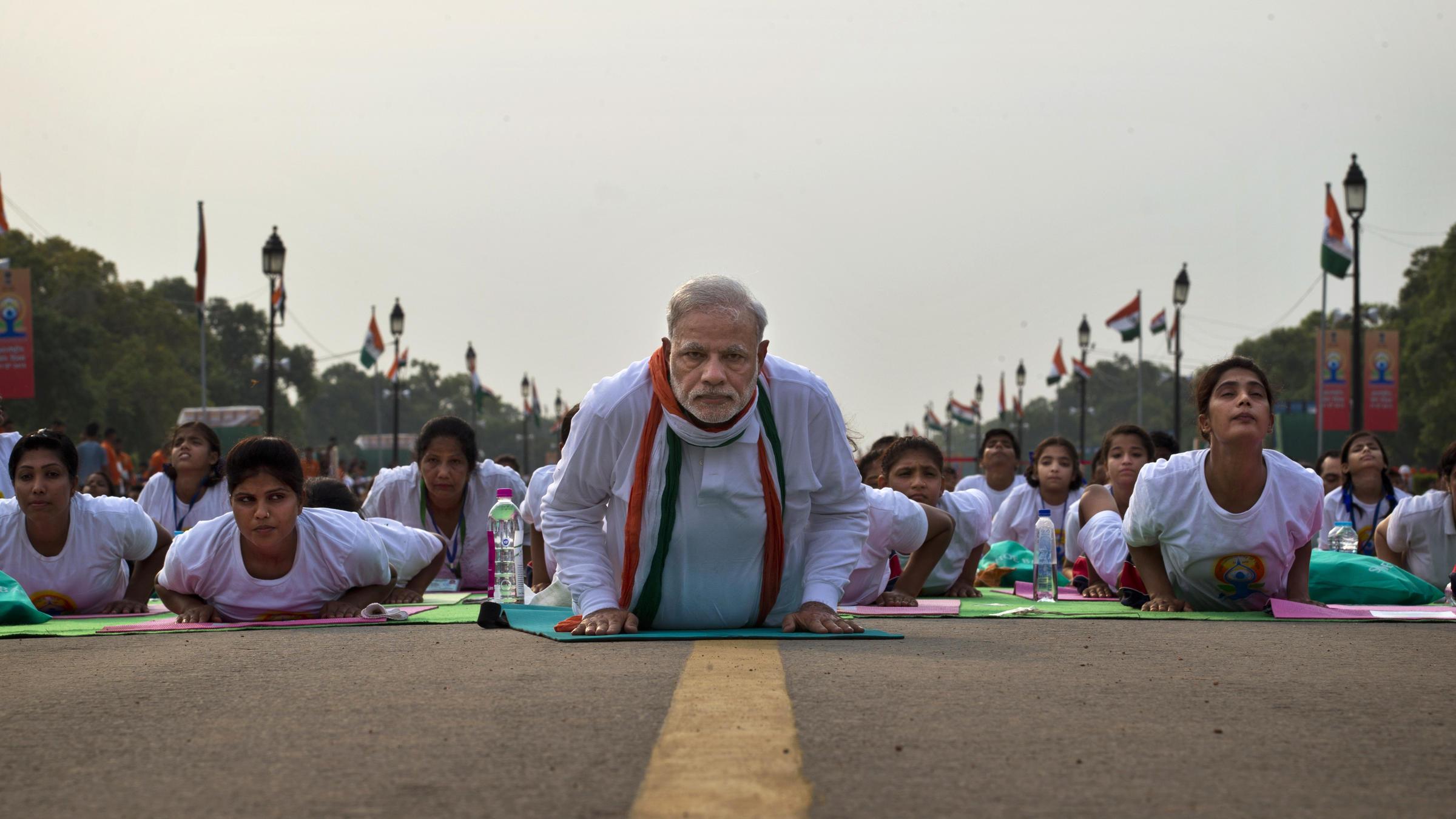 International Yoga Day Images Modi