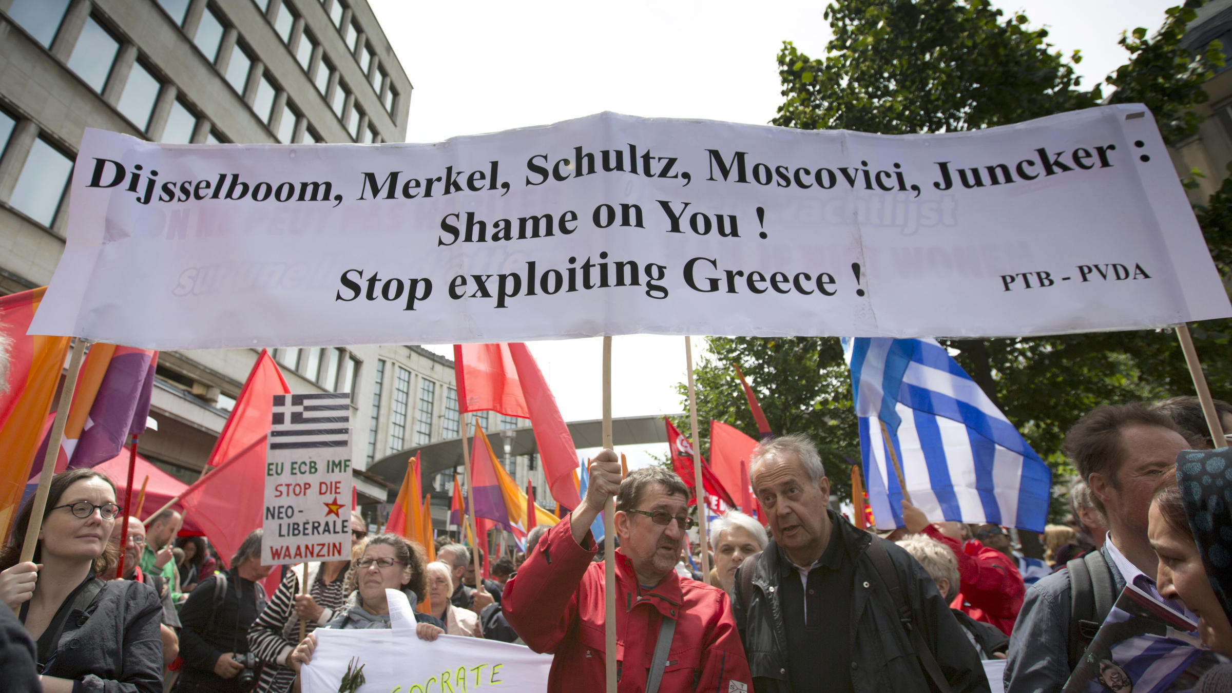 imf and greece On that day, greece ended its esm programme - after eight years of receiving loans from the esm, efsf, imf, and euro area countries together, the efsf and esm disbursed €204 billion to greece, and now hold more than half of its public debt.
