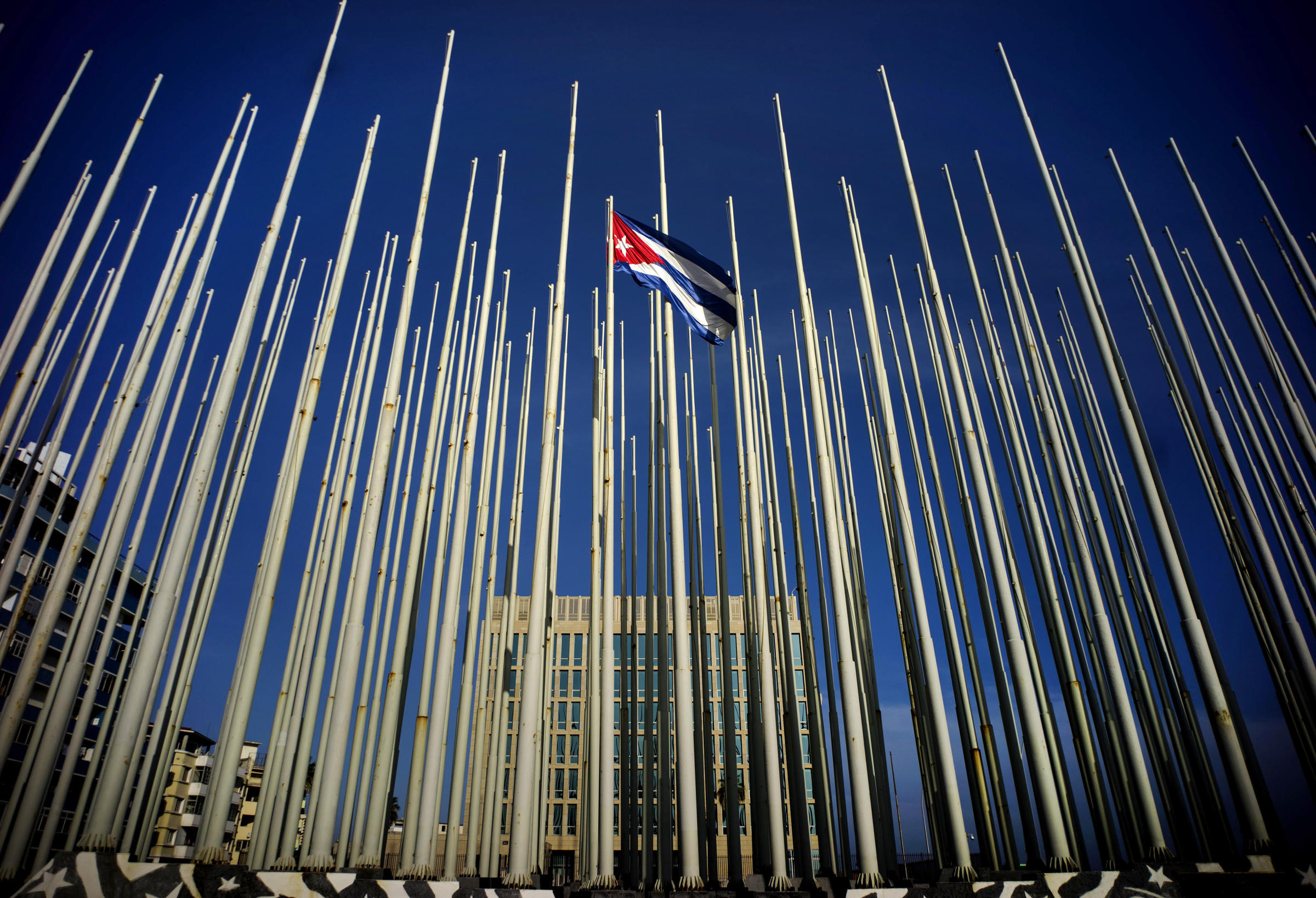 Section that building has again become the u s embassy in havana