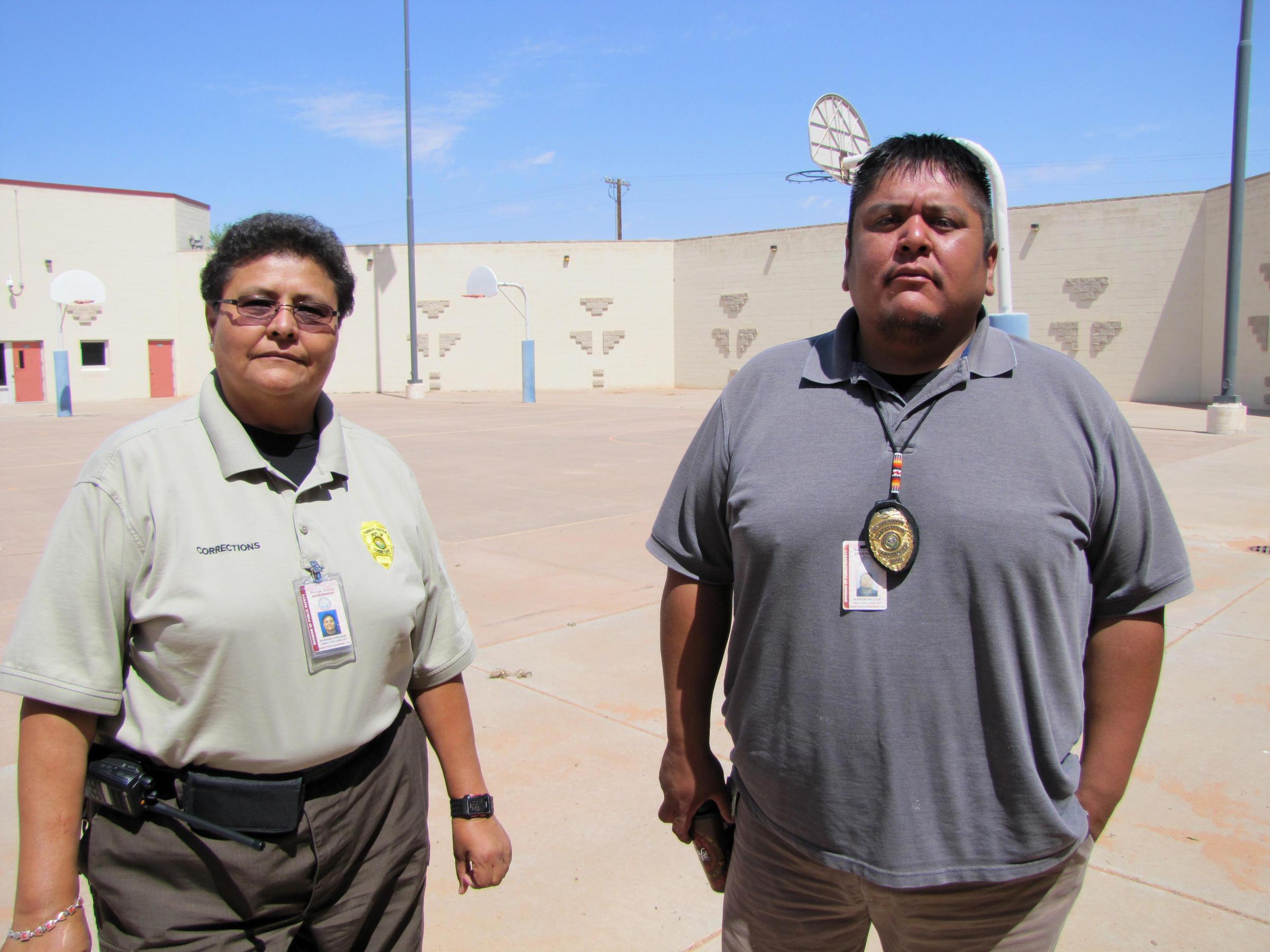 sgt barbara johnson and corrections lt robbin preston run the tuba city juvenile detention center on the navajo nation