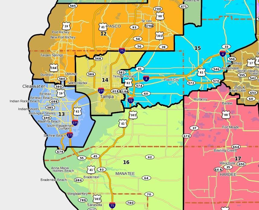 Florida Congressional Districts Map.Dramatic Shift Possible For Fl Congressional Delegation Wusf News