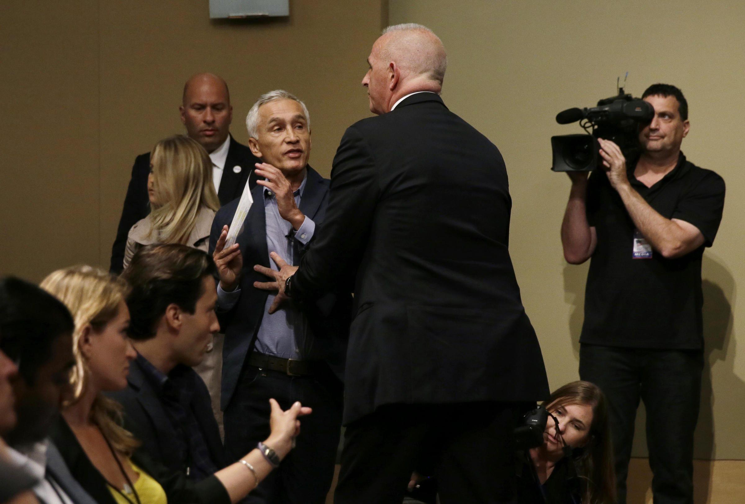 ... Donald Trump removes Univision anchor Jorge Ramos from a news