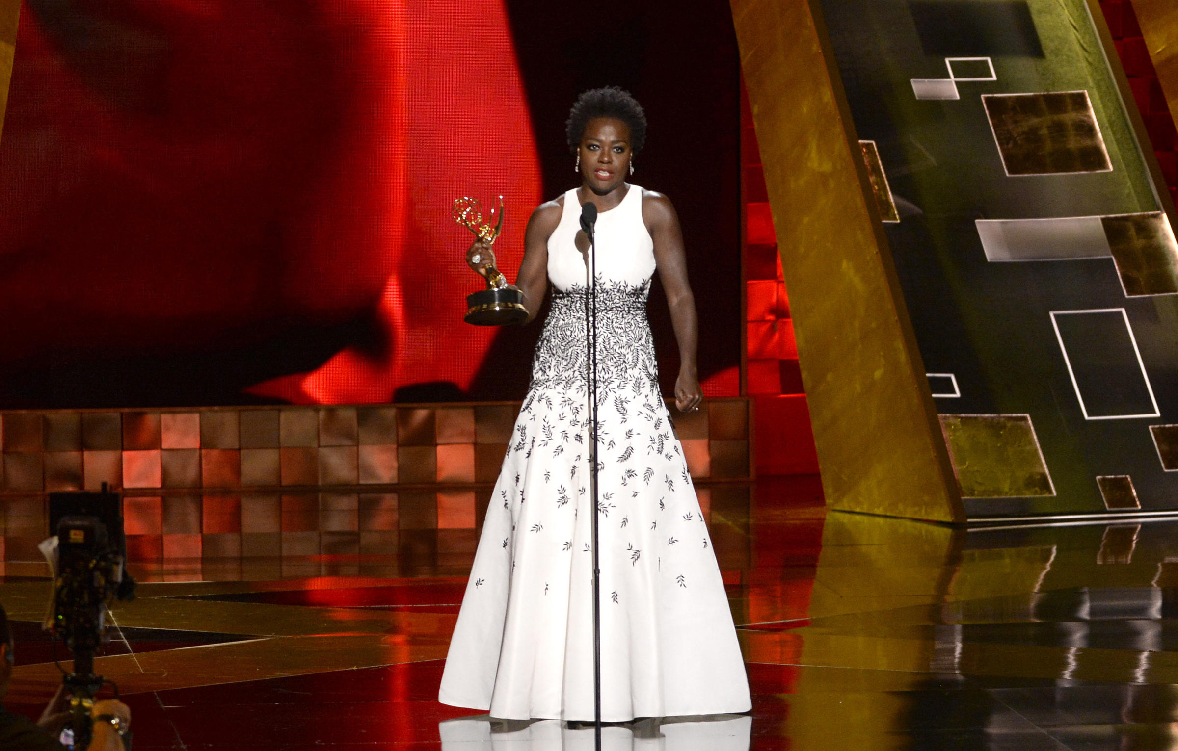 Viola Davis Accepts The Emmy For Outstanding Lead Actress In A Drama Series  For How To Get Away With Murder At The 67th Primetime Emmy Awards On Sunday  In