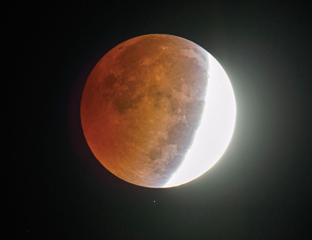 Colouring sheets of the lunar eclipse - A Star Shines Below The Partially Eclipsed Moon Wednesday Morning October 8 2014 In This Picture Made Through An Amateur Astronomer S 8 Inch Telescope At