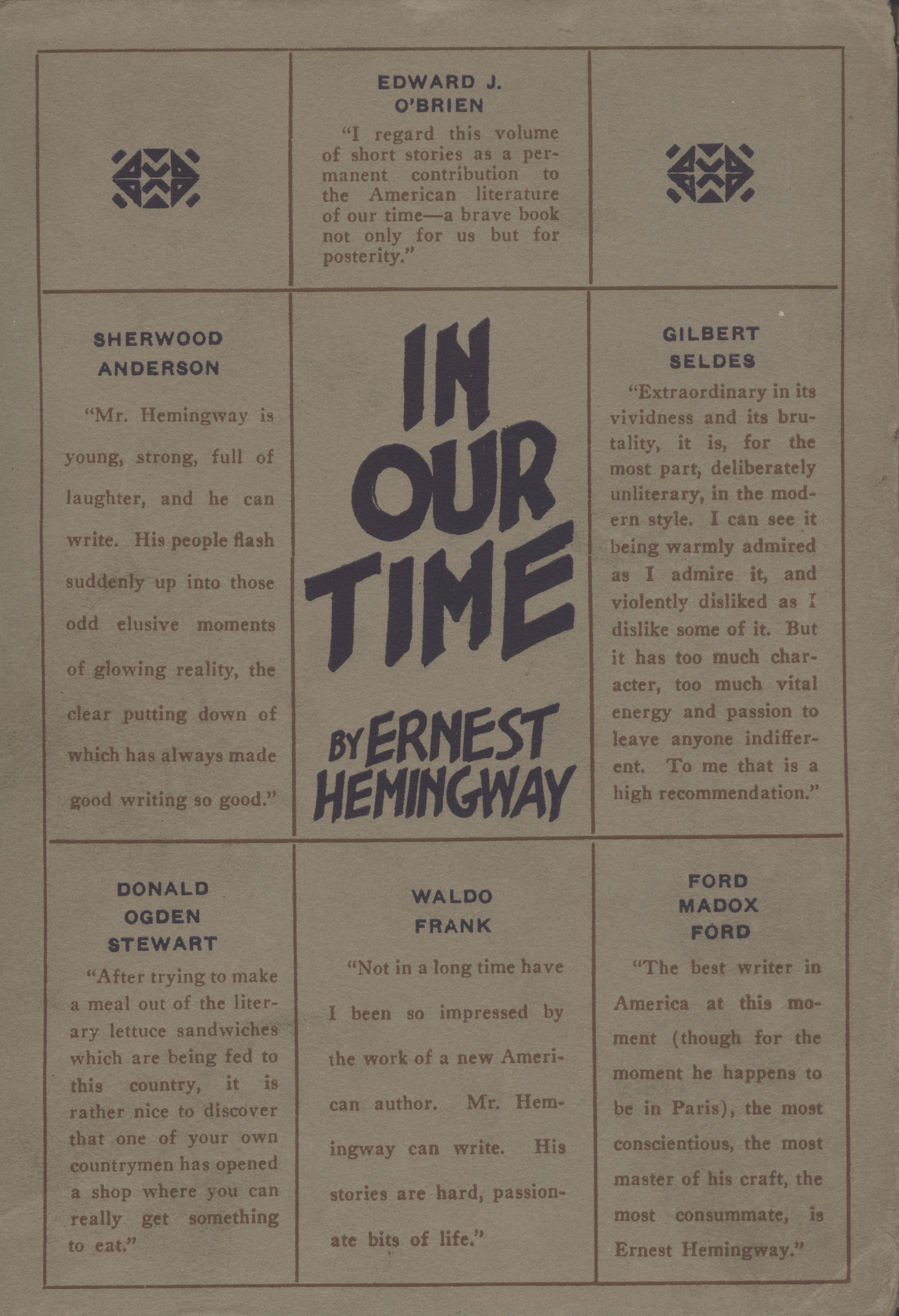 a narrative about reading hemingways collection The hemingway collection and reading hemingway's post-1930 letters for   ernist intertext that traces a narrative of intense rivalry, joint psychological  influence.