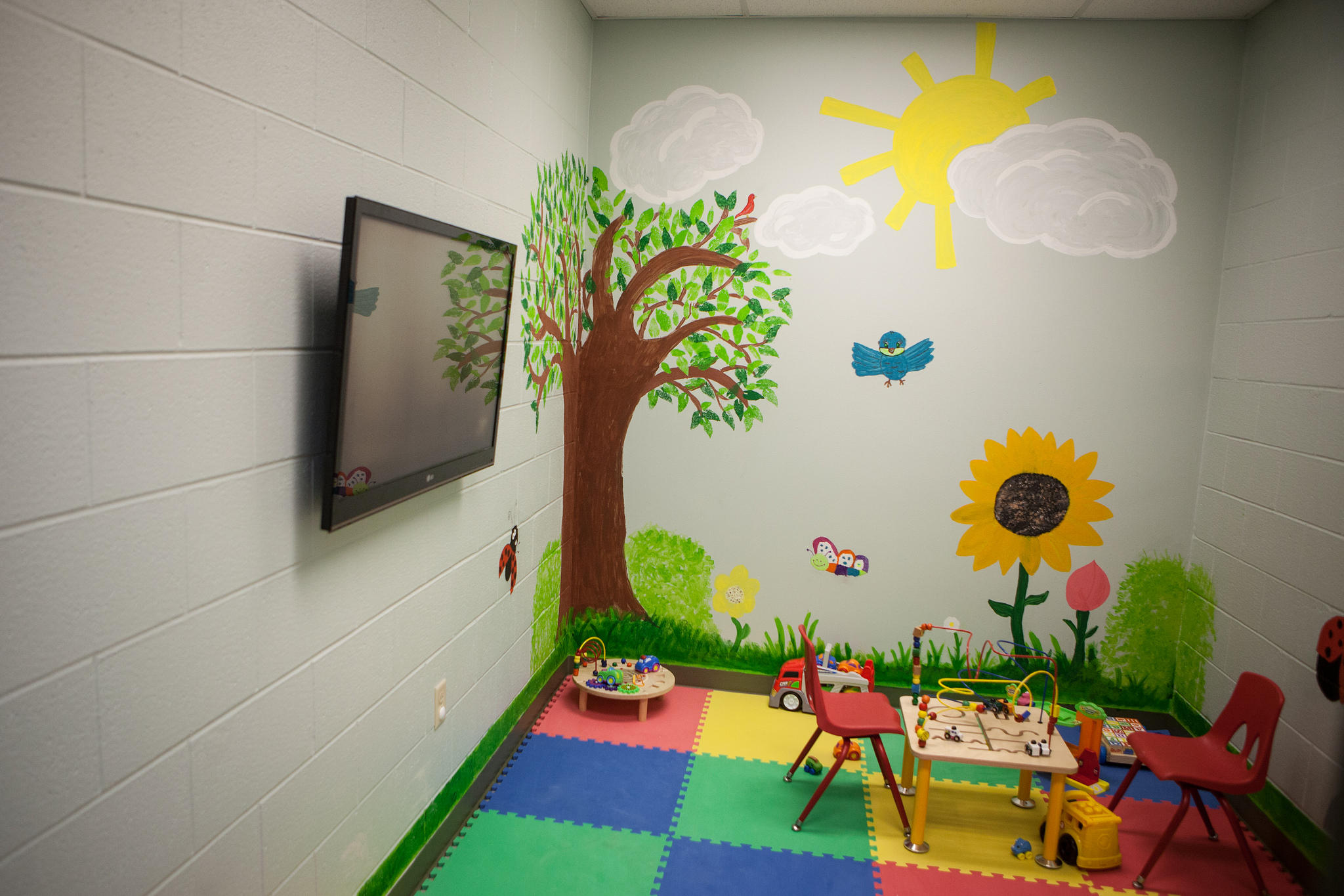 Inside The Detention Facility In Karnes City, Texas, Designed To House  Mothers And Children Apprehended At The Border.