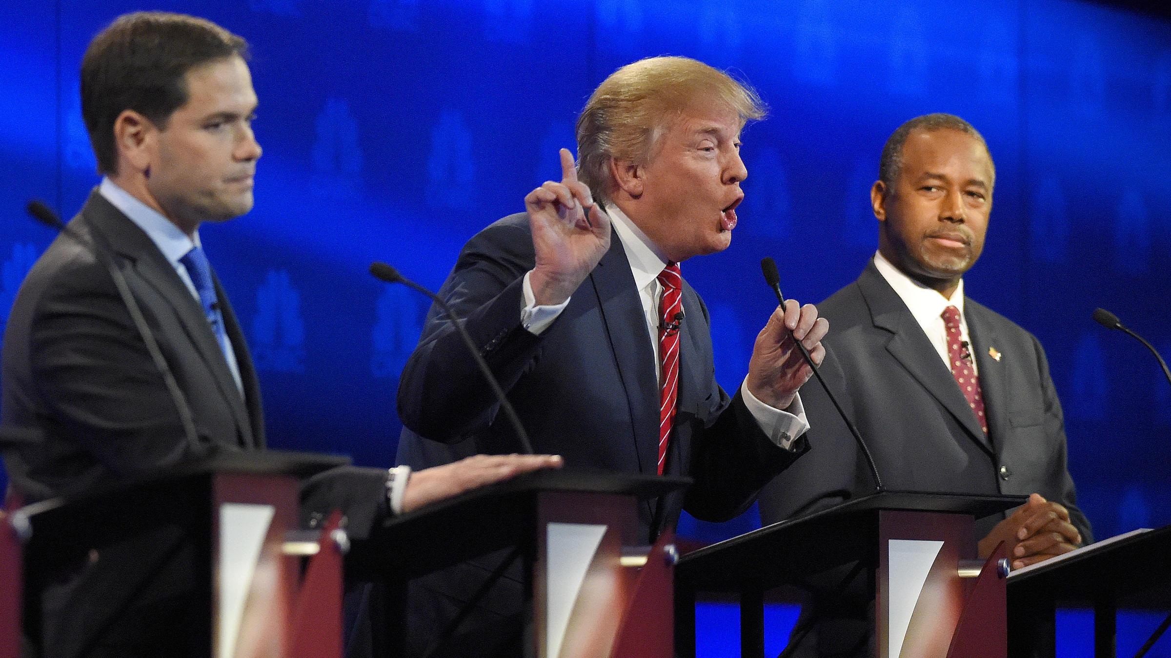 Fireworks Fly In Unruly Third GOP Presidential Debate ...
