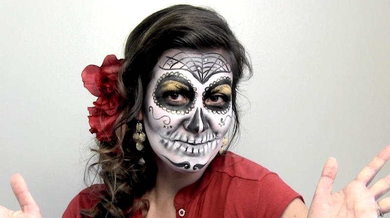 watch this stunning d a de los muertos face painting texas public radio. Black Bedroom Furniture Sets. Home Design Ideas