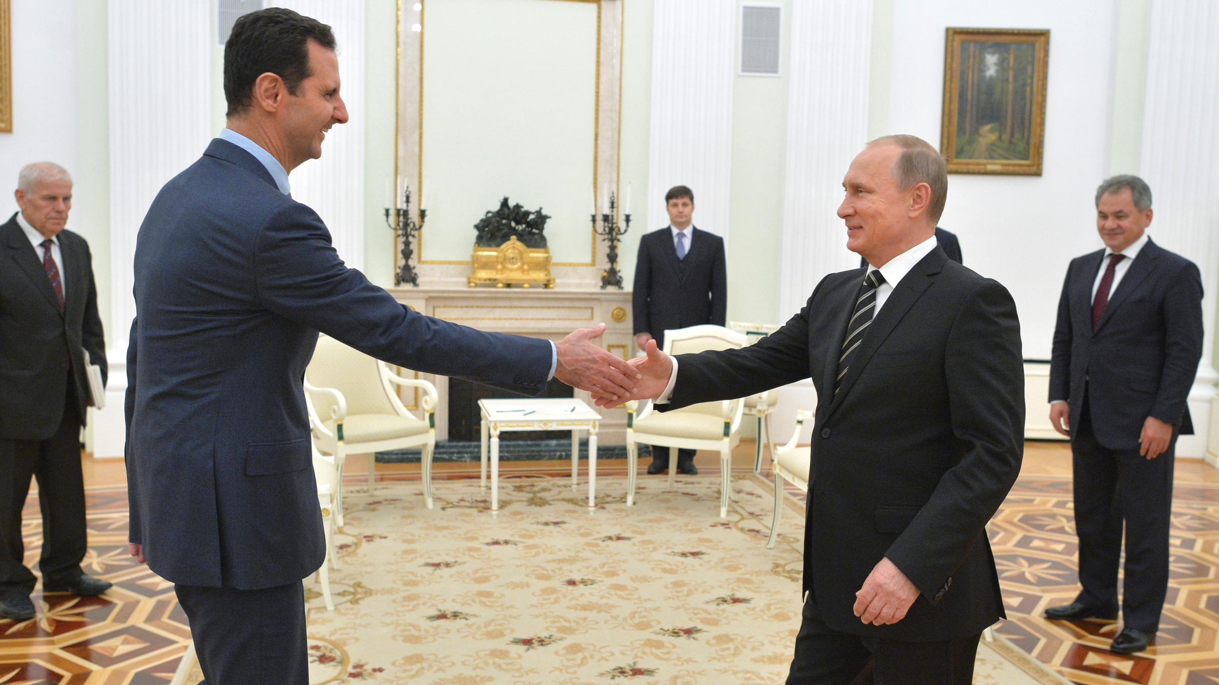 Rescued by russia many are promised few are saved kalw russian president vladimir putin right greets syrian president bashar assad in the kremlin in view slideshow 1 of 3 kristyandbryce Images