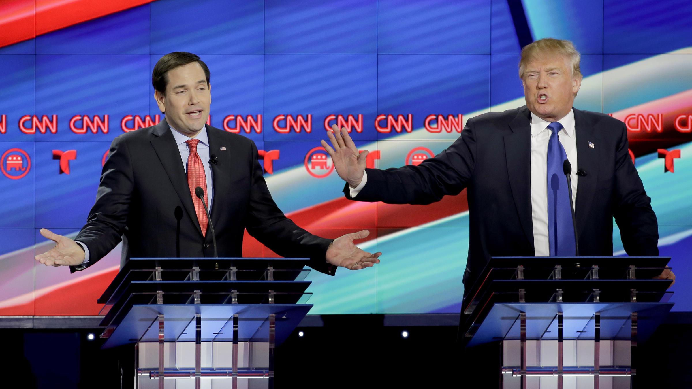 Trump has big lead over Rubio in Florida