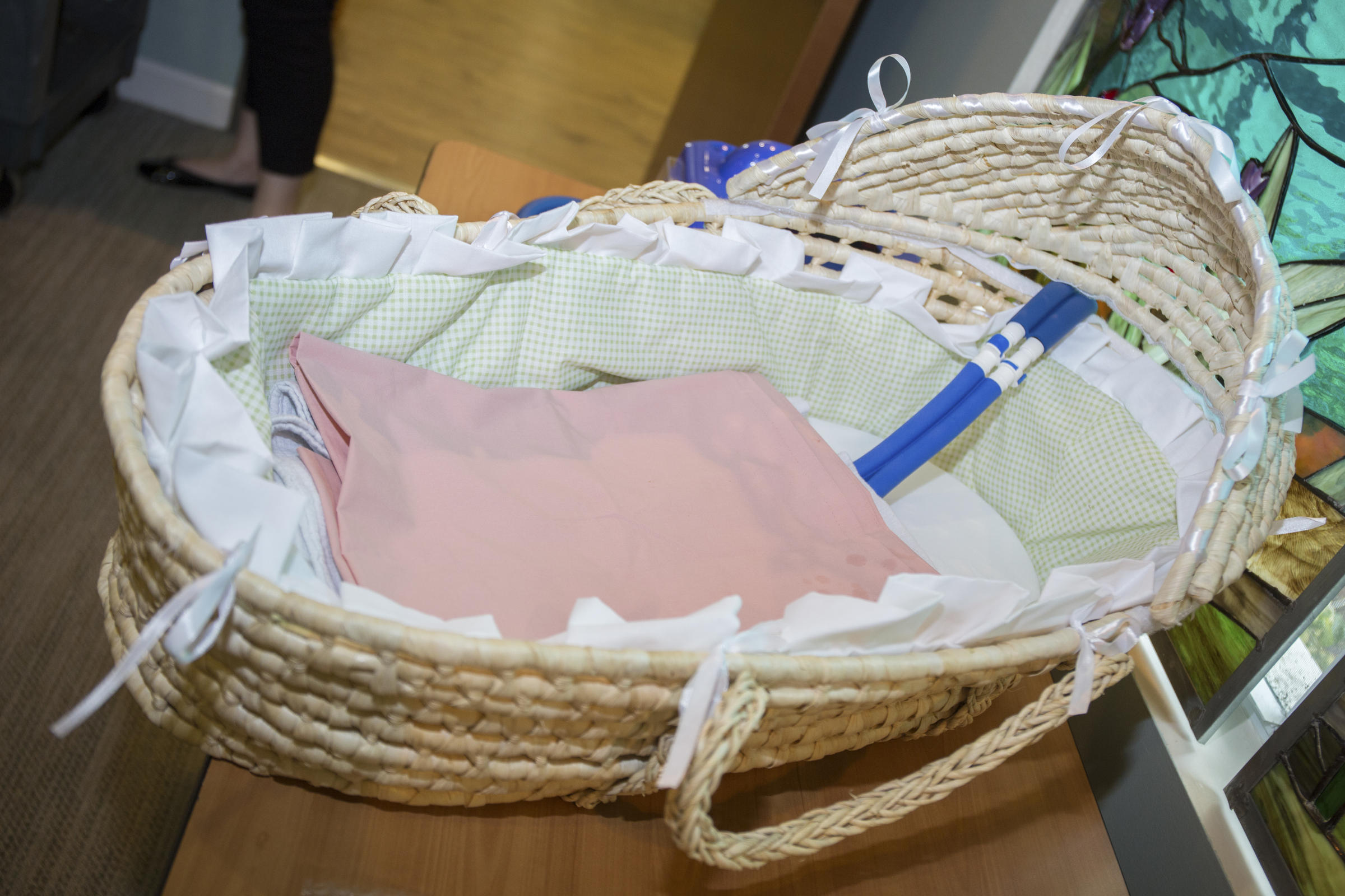 Baby bed next to bed - The Cooling Mat Can Be Placed In A Straw Bassinet That Looks Like A Moses Basket Or It Can Be Placed On Mom S Hospital Bed Next To Her Side