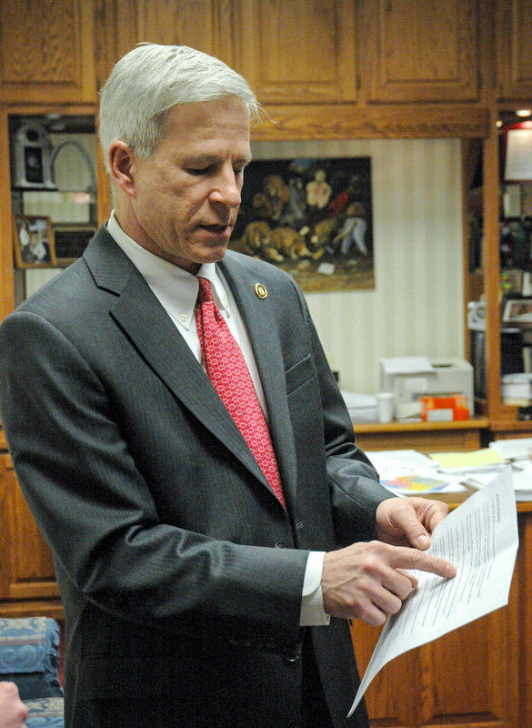State Sen. Rob Schaaf points to evidence in support of his opposition ...