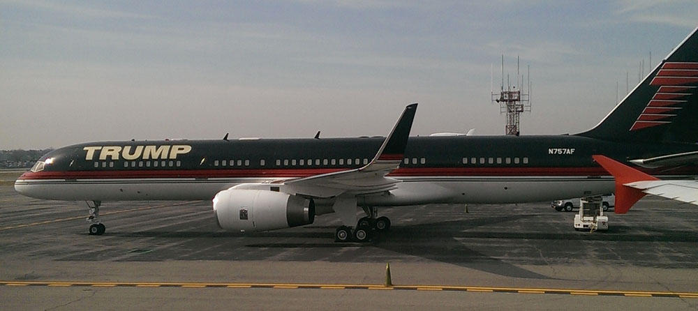 Trump S Boeing 757 Has Gold Plated Seat Belt Buckles And