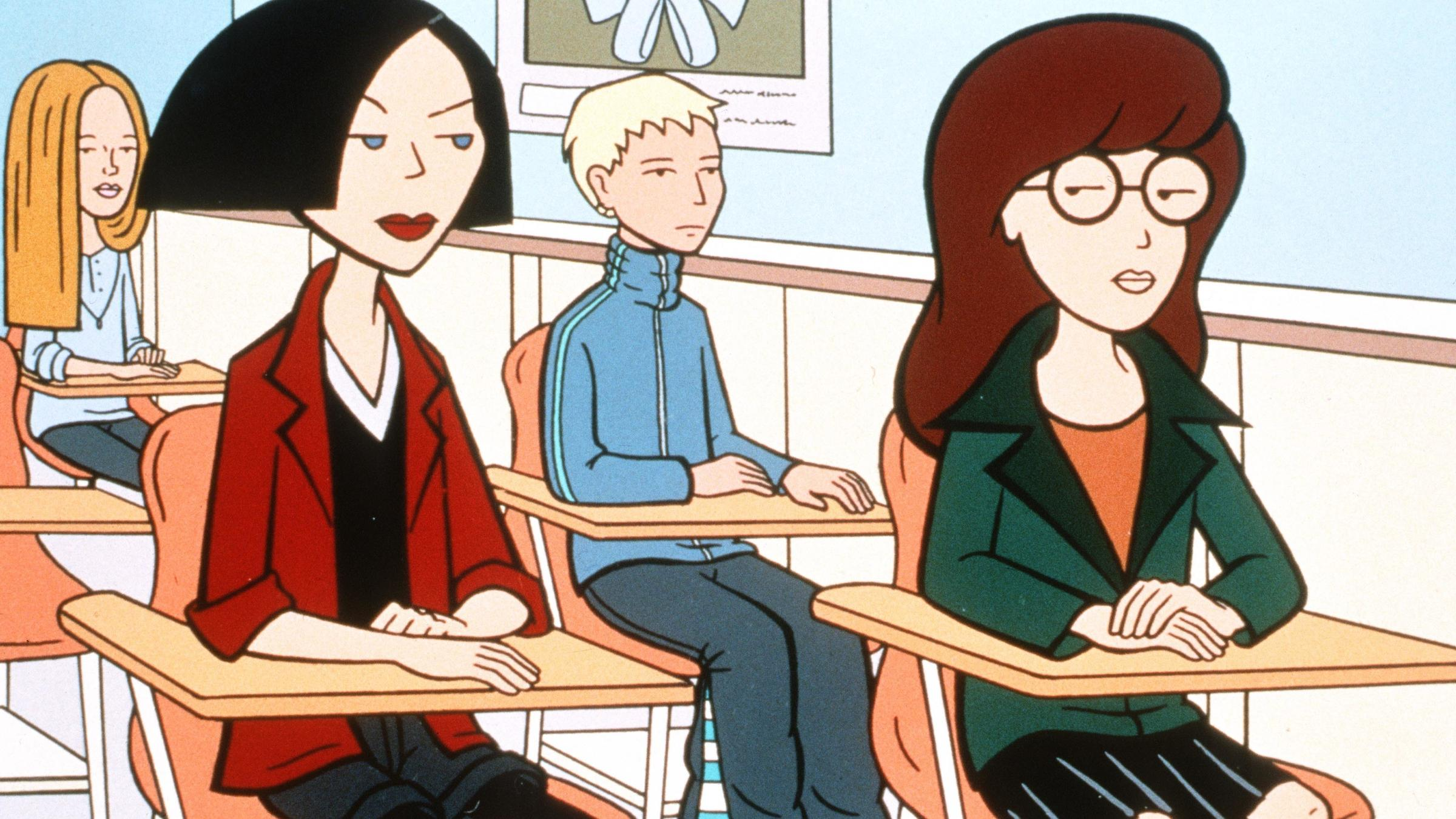 Jane Lane And Daria Morgendorffer From The MTV Series