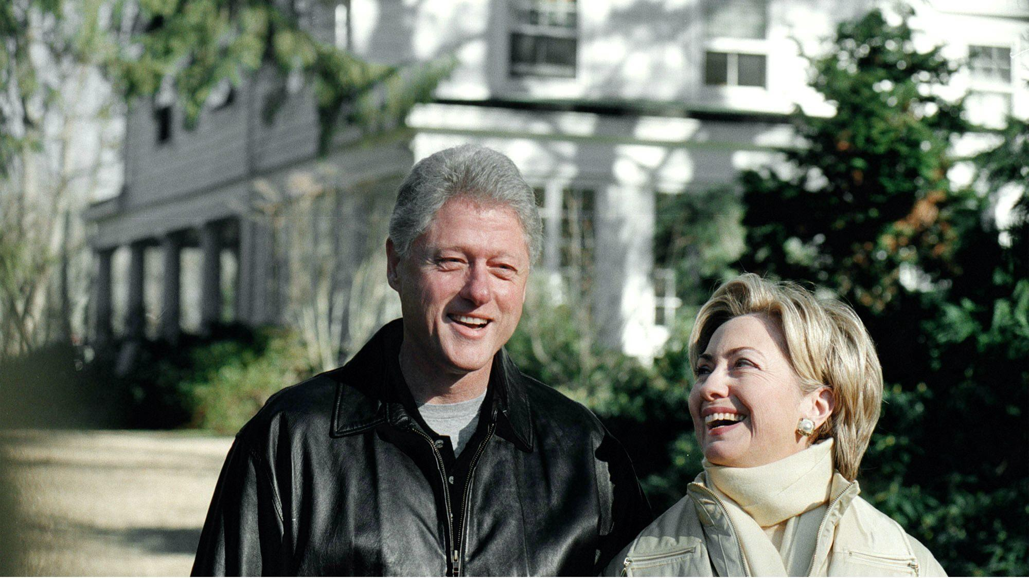 The clintons wrote the book on how politicians climb out Bill clinton address chappaqua