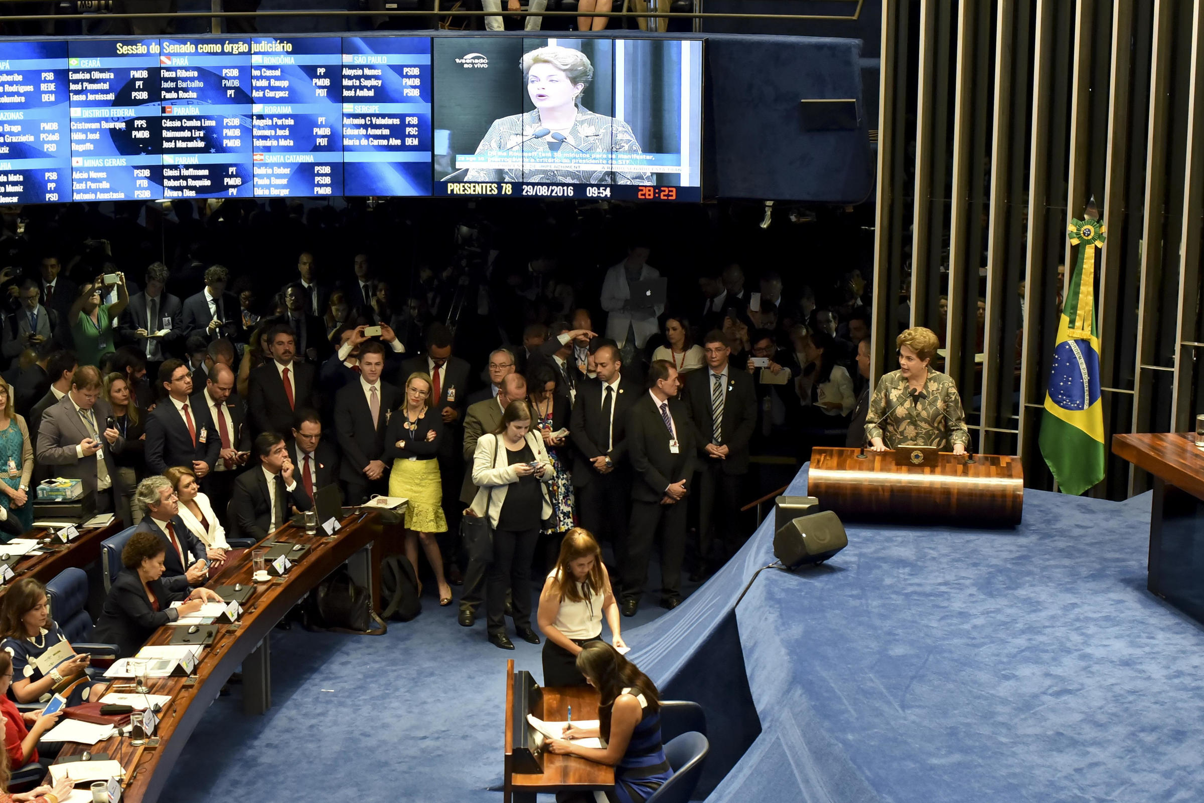 Brazil Senate Expected to Vote in the Afternoon on Rousseff Ouster