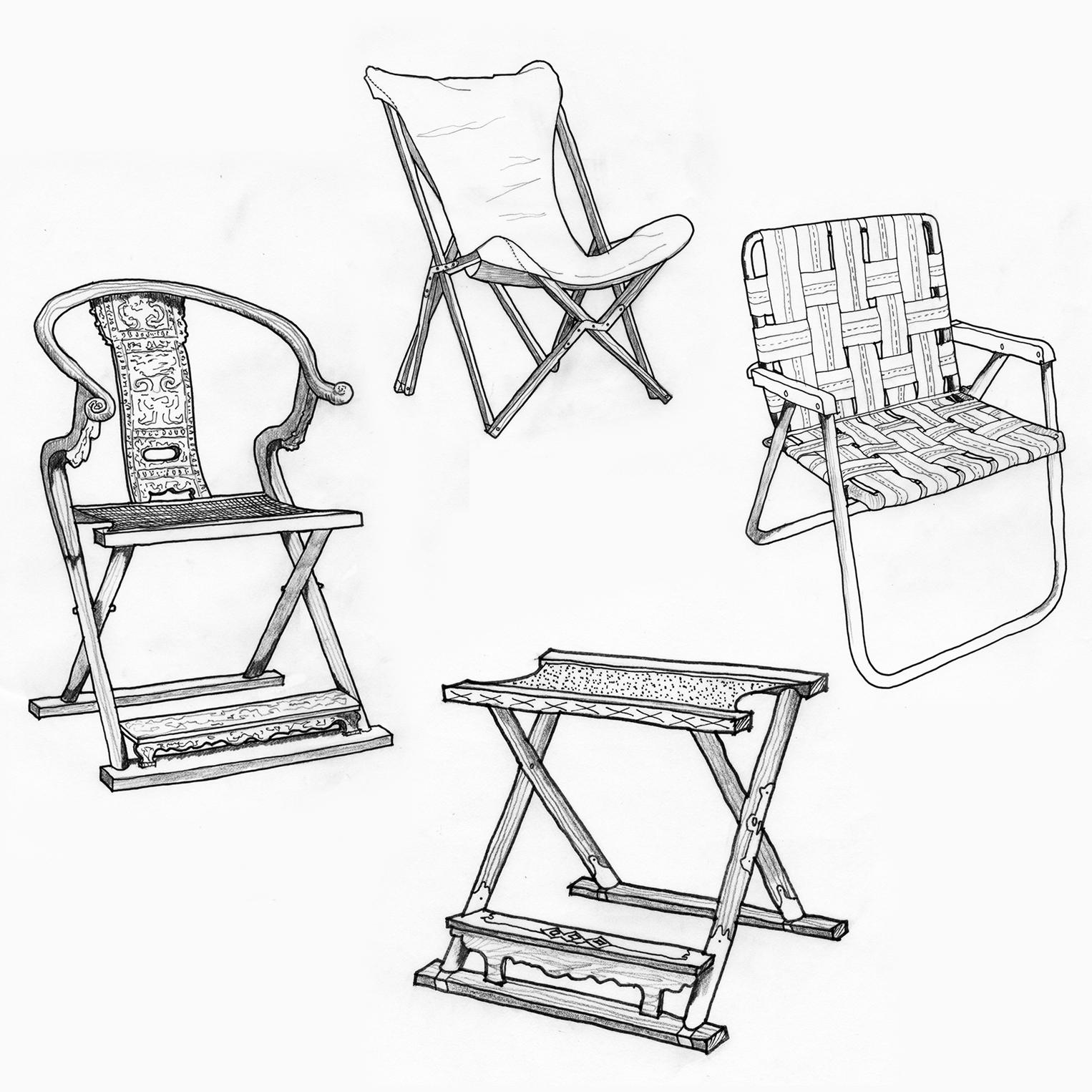 Klismos chair drawing - Rybczynski Believes The Oldest Kind Of Chair Was Not A Throne But A Folding Chair