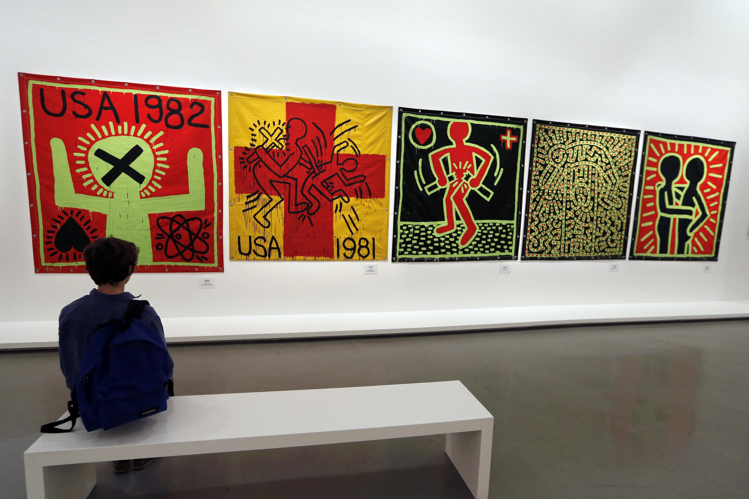 D Exhibition : In an nyc stairwell one of keith haring s murals may be