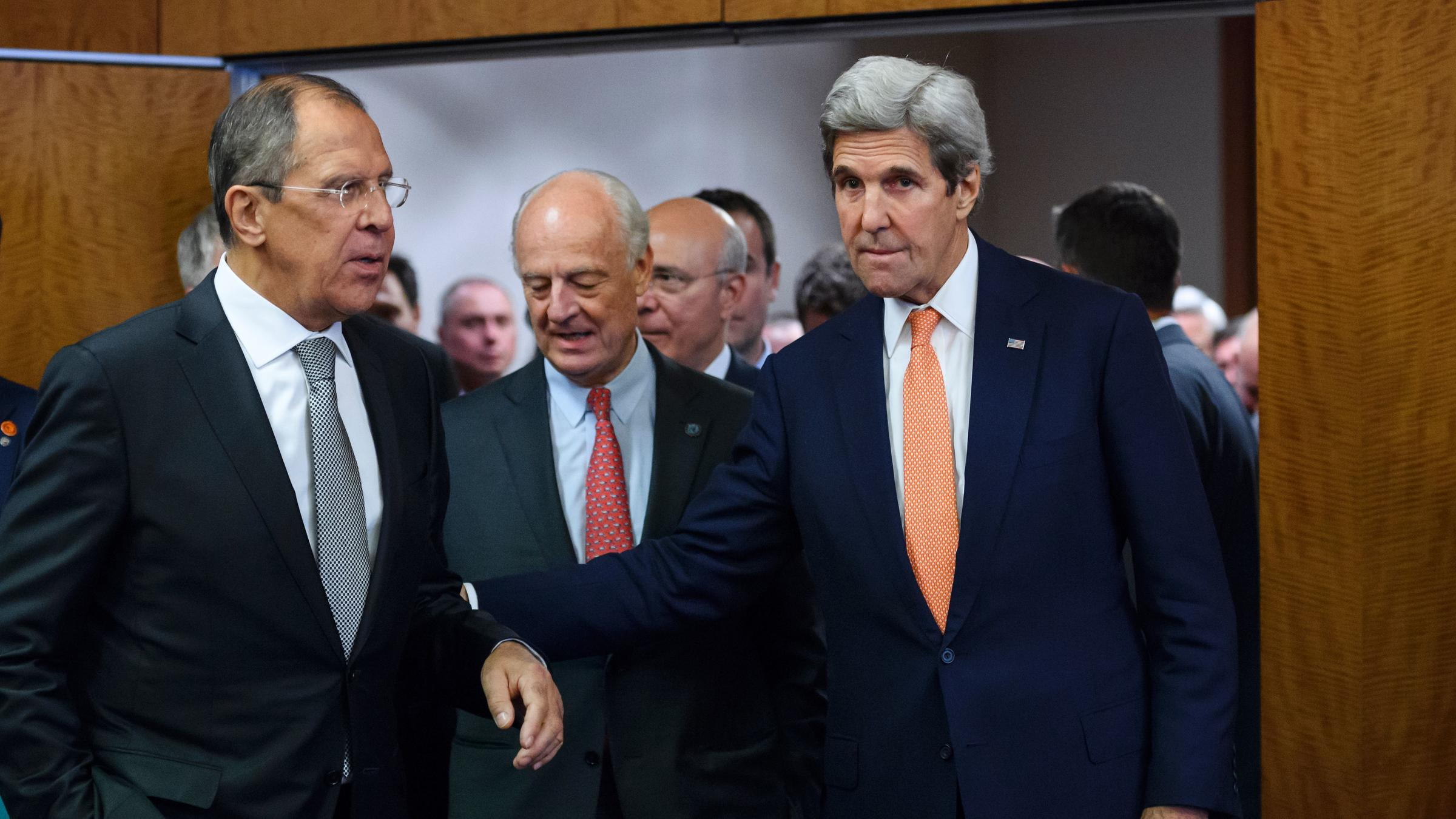 Syria cease fire plan reached us and russia announce kera news lavrov left and us secretary of state john kerry right enter a news conference room friday in geneva to announce a cease fire agreement for syria platinumwayz
