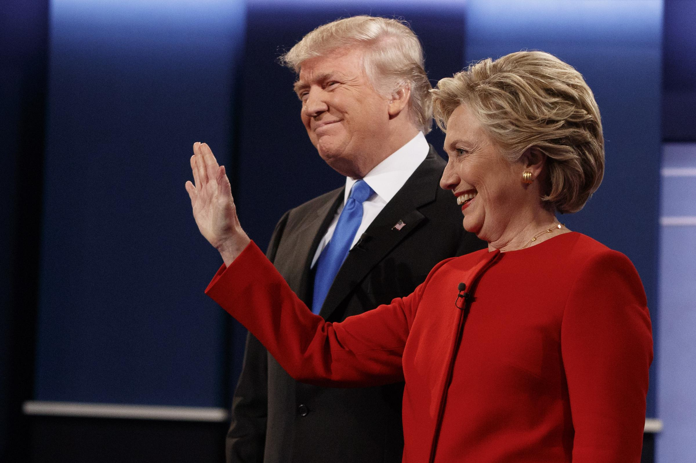 Clinton takes a swing at Trump's debate performance