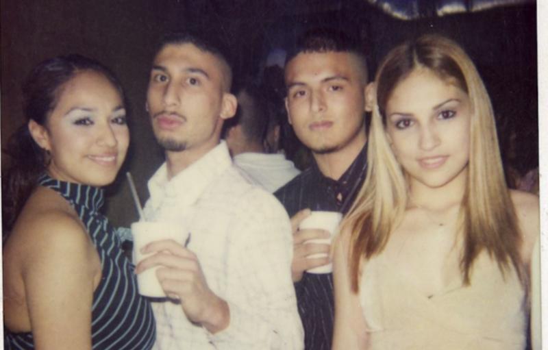 Bart Reta And Gabriel Cardona Zeta Hit Men Pose With Two Young Women At A Party