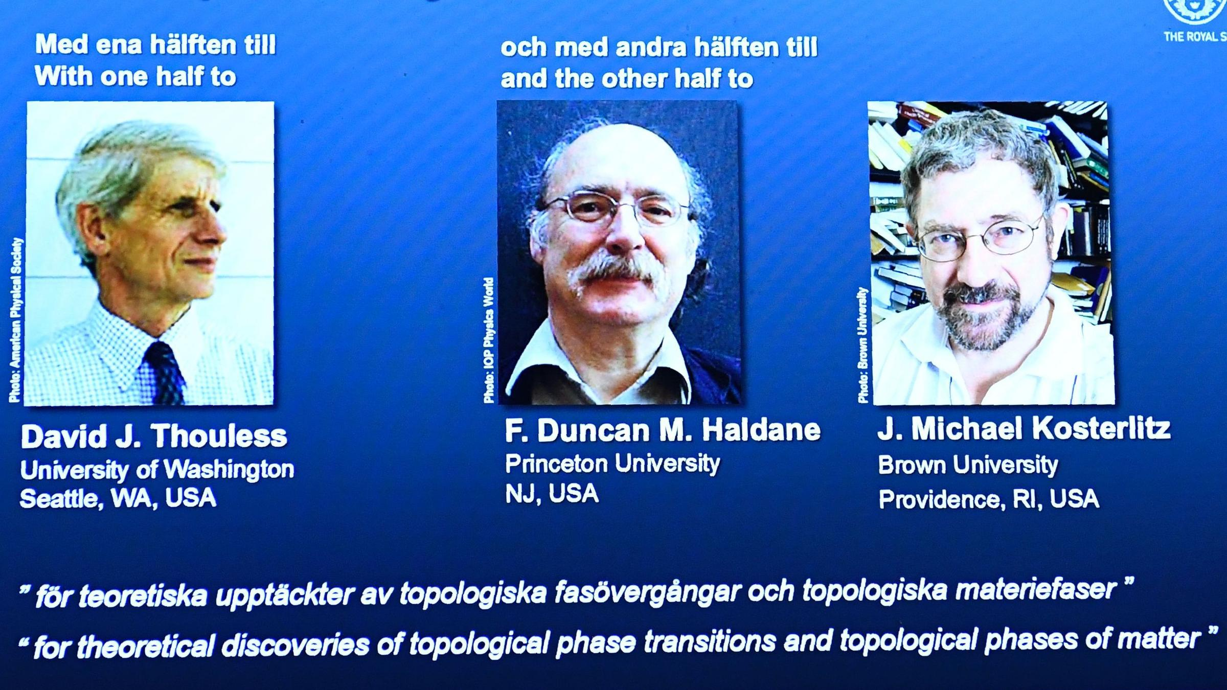 3 Physicists Win Nobel Prize For Theoretical Research Into ...